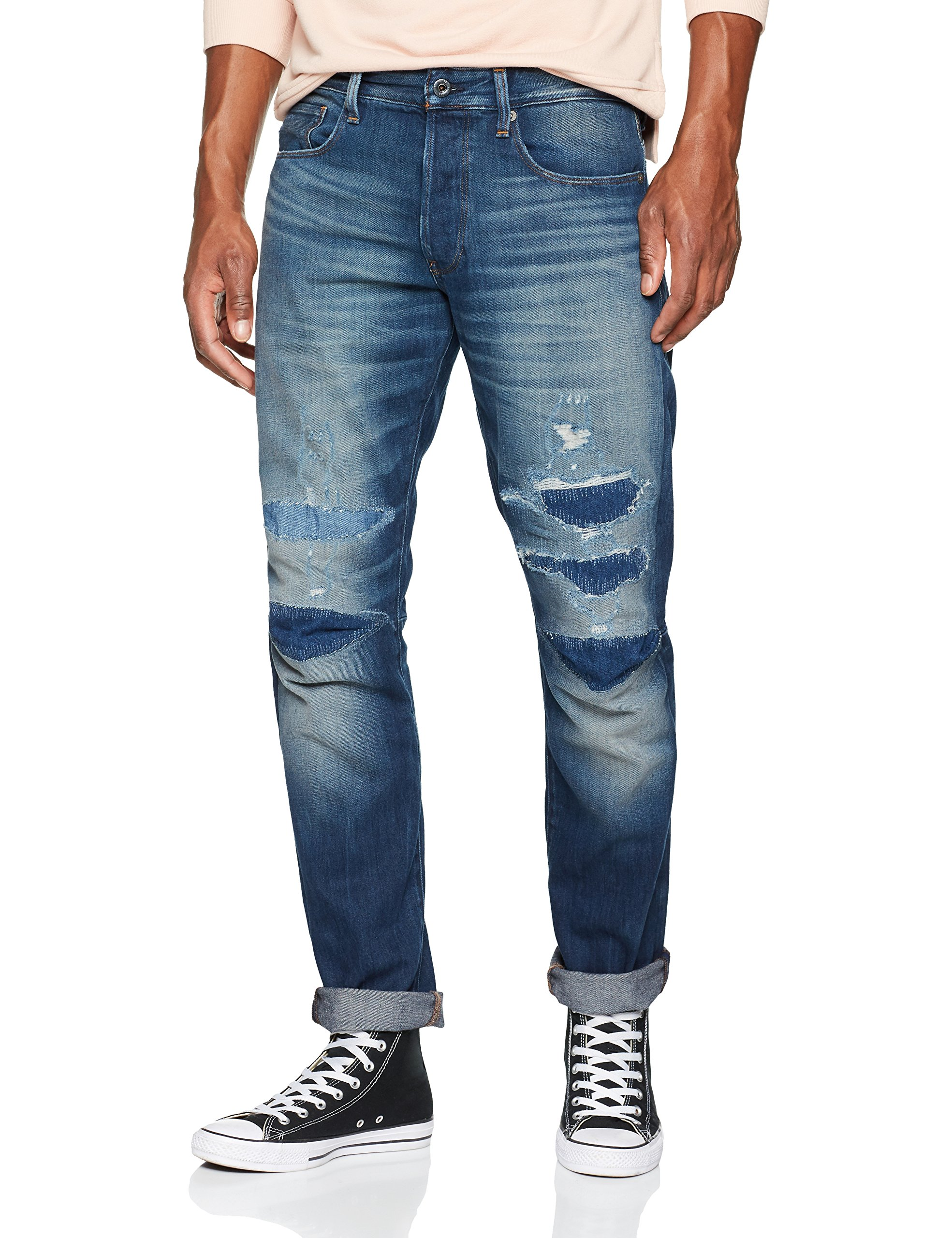 Tapered JeansBleumedium star Homme Raw G 3301 3d Aged 9169 Restored 921534w32l hsQrBtdCxo