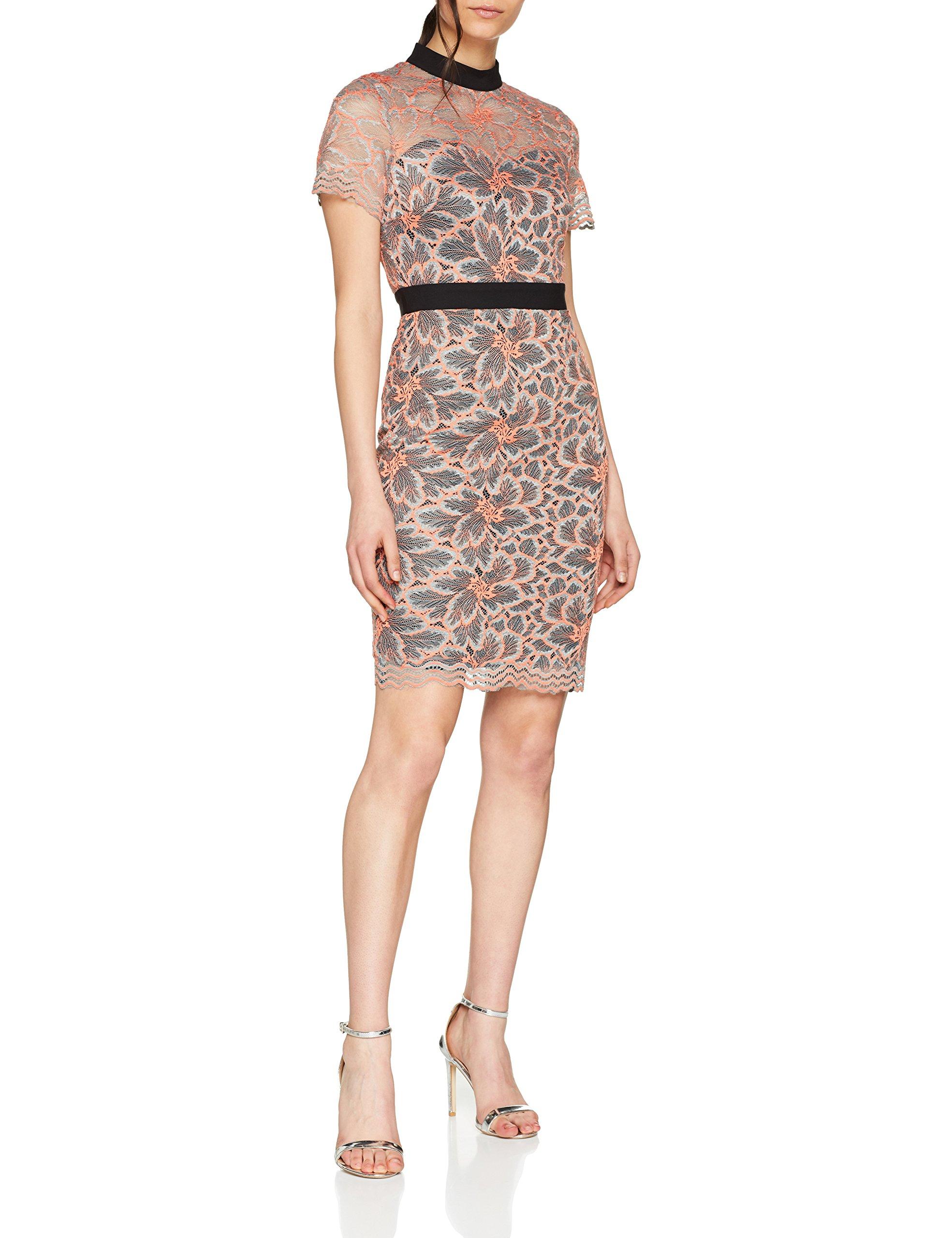 Femme Soft Multi Lace RobeMulticolore 00140 Dress High Neck Paper Dolls RjL5A43