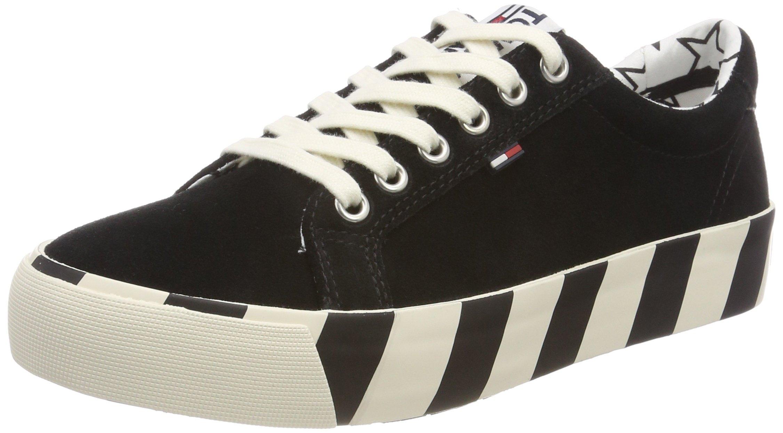 Hilfiger FemmeNoirblack Eu Tommy Suede SneakerSneakers Denim Basses Jeans 99040 vN08mnw