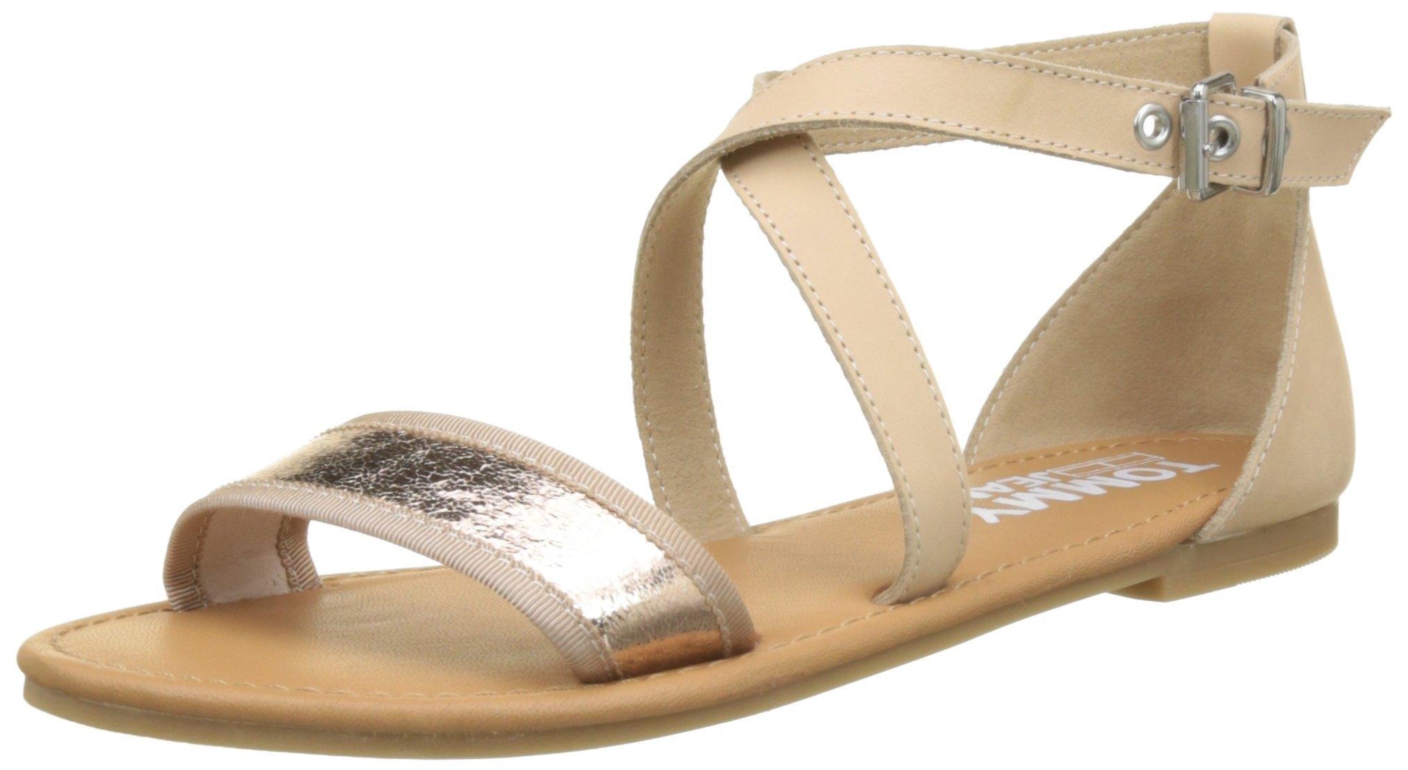 Denim Hilfiger Metallic 63839 Bride Cheville Femmerose Gold Jeans FlatSandales Tommy Eu UpSzVMGq