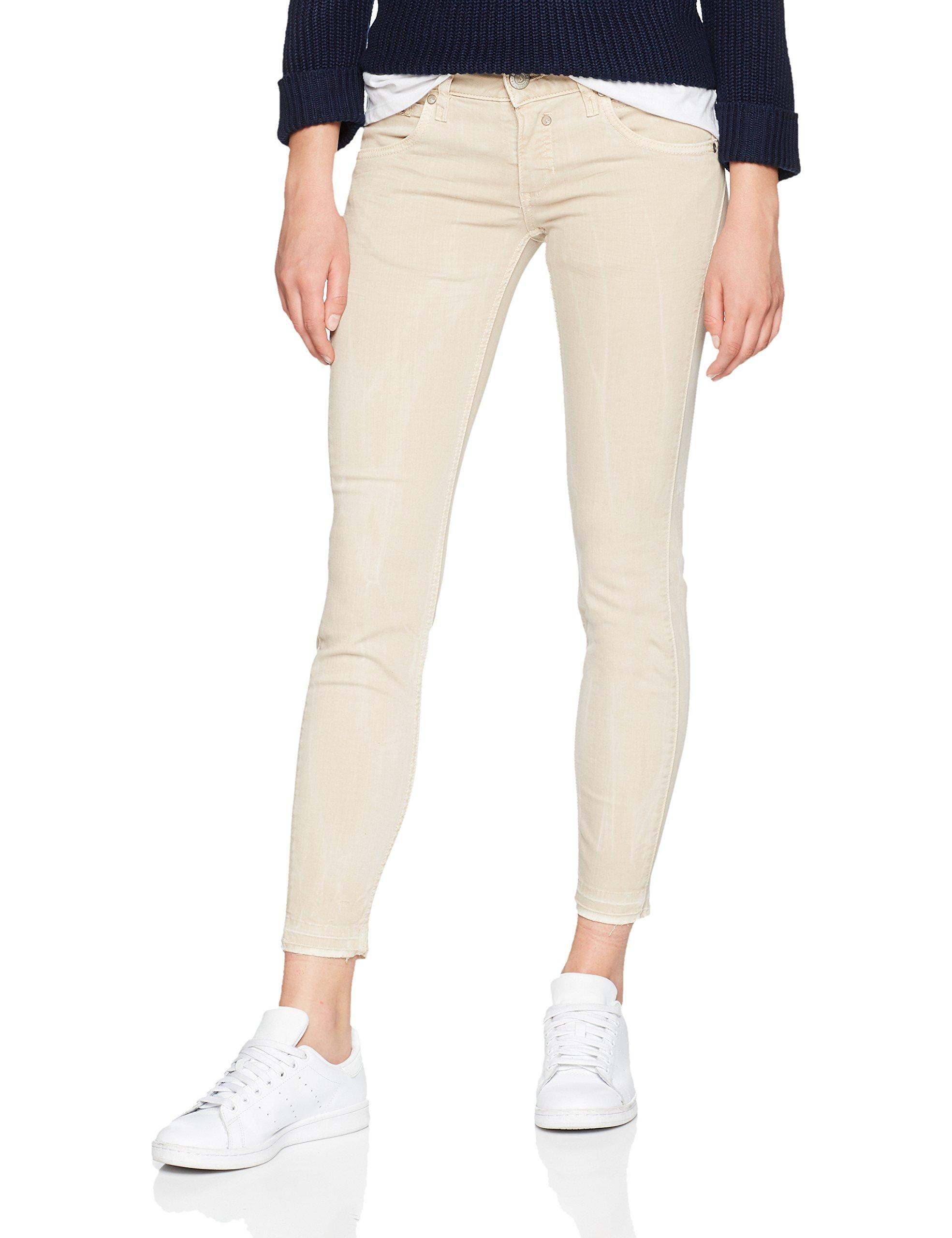 379W29 Touch Femme Cropped Herrlicher PantalonBeige OkuwPZiXTl