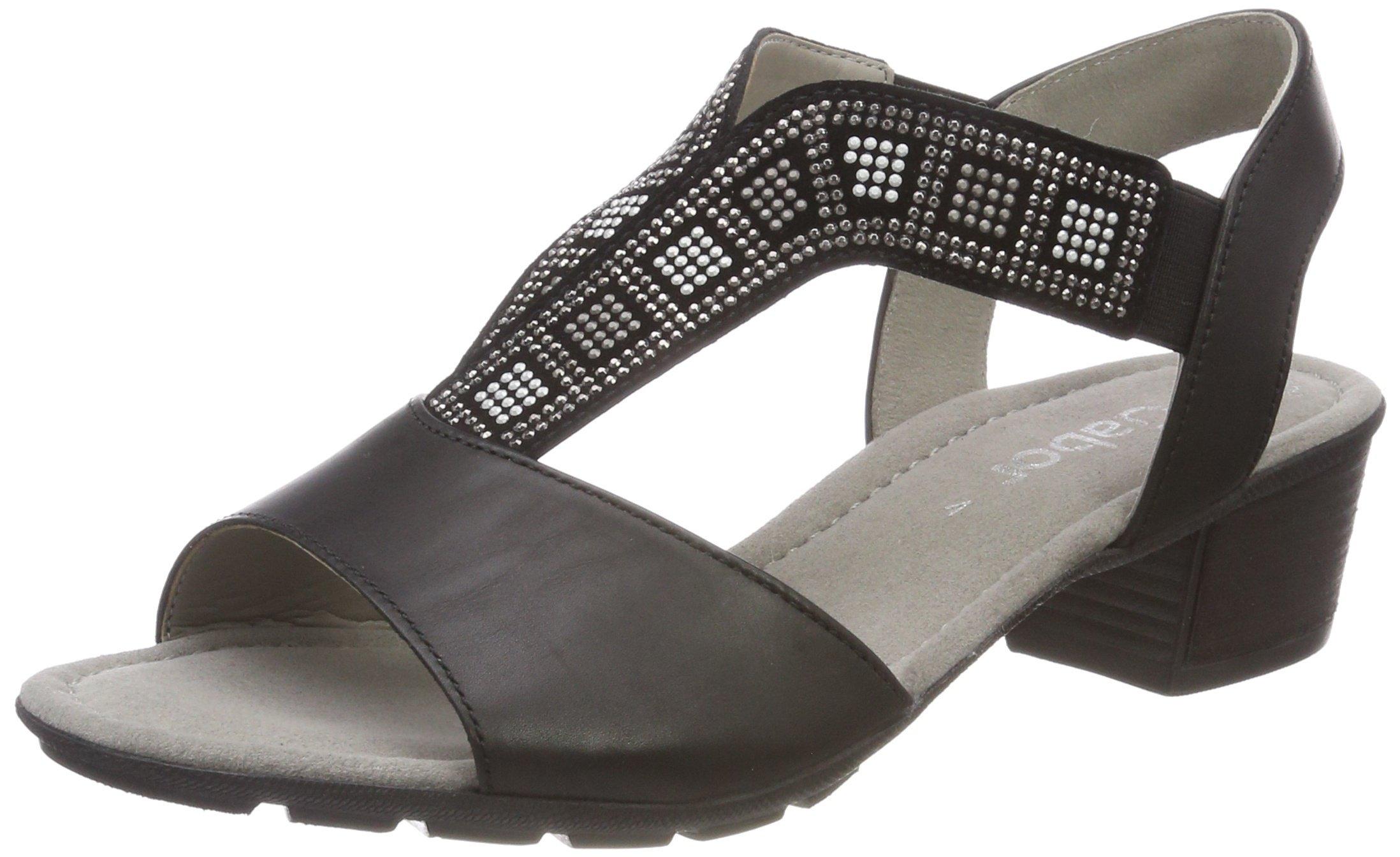 Cheville Shoes FemmeNoirschwarz Bride CasualSandales Gabor Eu Anthrazit39 SRjL43Ac5q