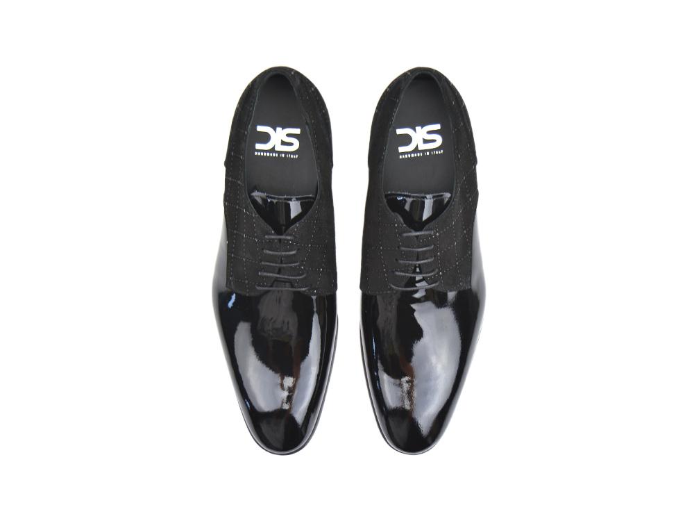 Frank De Italian Verre Shoes Cuir Derby Noir Hommes DisDesign Ninja J3l1TFKcu