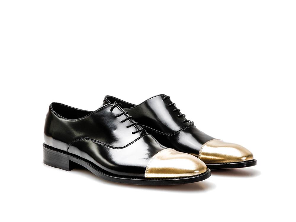 En Veau Noir Italian Cuir Shoes De DisDesign Richelieu Bout Totò PiXlkTuwOZ