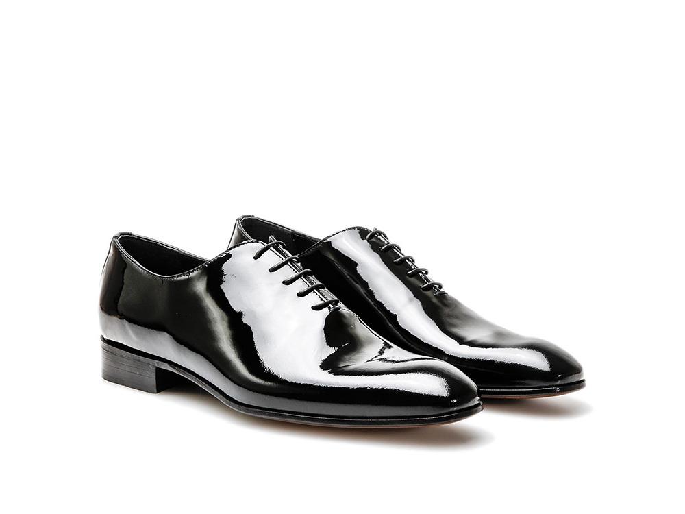 Oxford DisDesign Italian Cuir En Pour Homme Noir Verni Shoes Verdi wn0OmyN8v