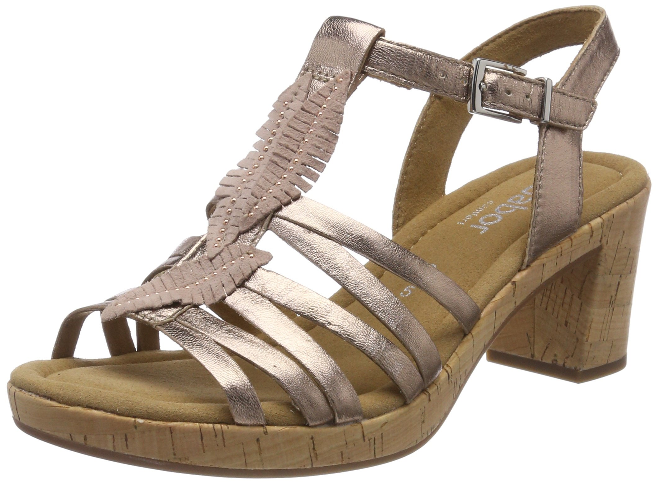 Kork41 Comfort Gabor Bride Cheville FemmeMulticolorerame SportSandales Eu Shoes iTOPklZuXw