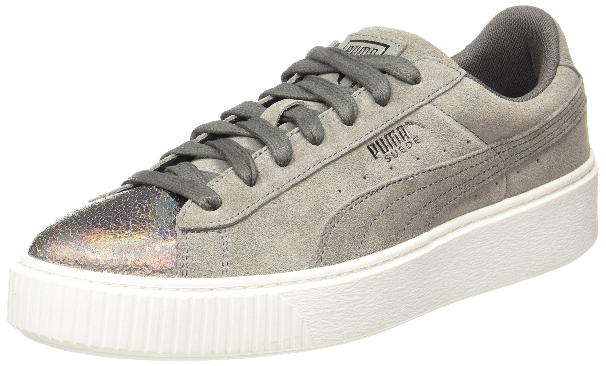 Lunalux FemmeMarronsmoked Puma Pearl40 Eu Platform Wn'sSneakers Suede Basses 5 OP80nwk