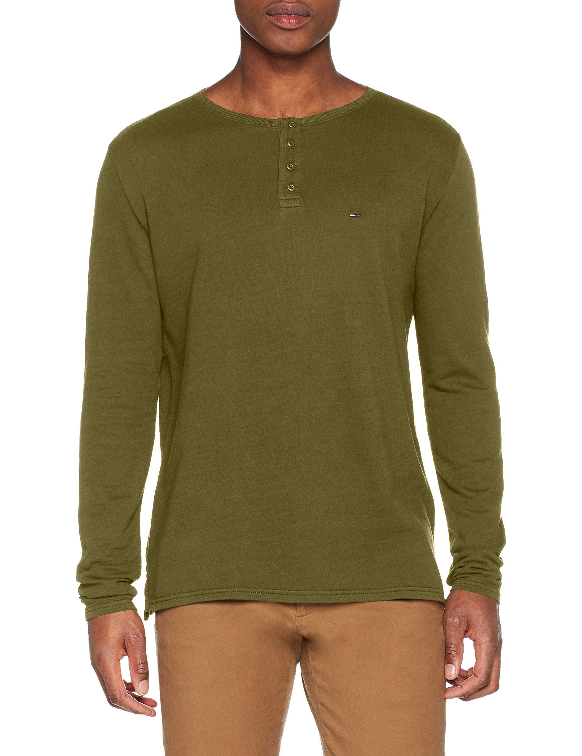 Tommy Garment Vertdeep Homme T Dye Lichen 392Small Manches Longues Jeans Henley shirt uTwZiPkXO
