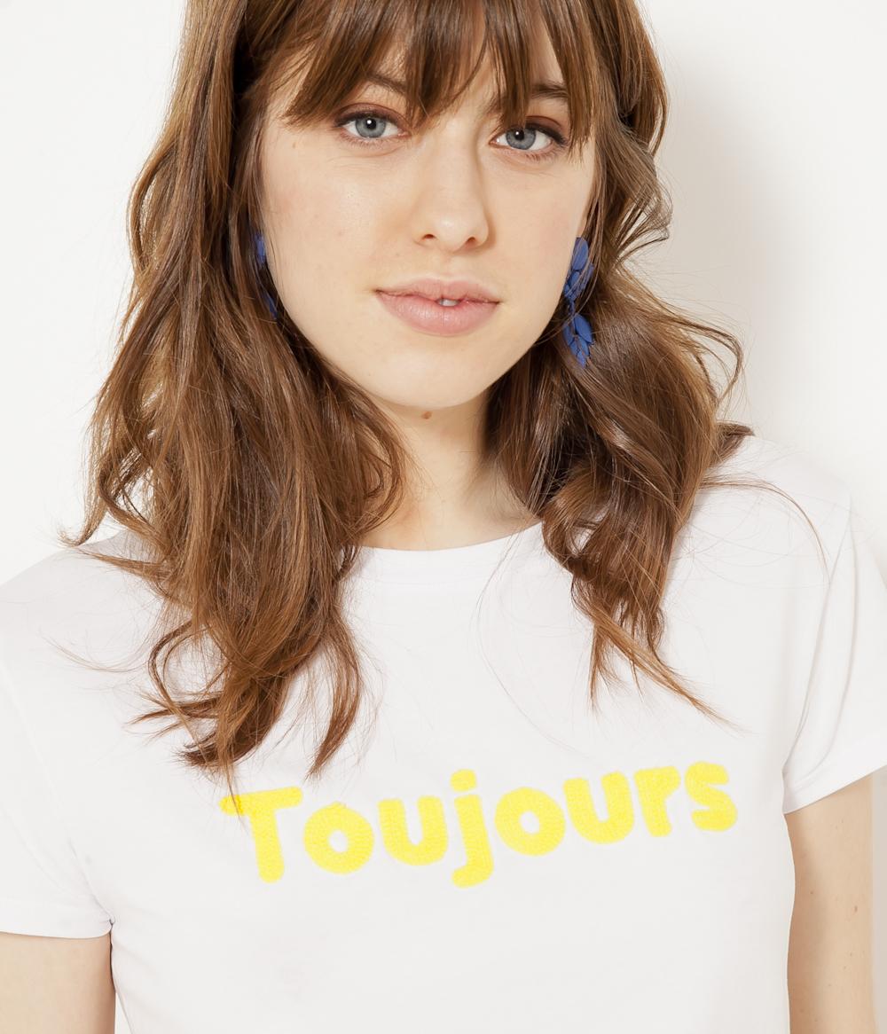 Camaïeu T » shirt Femme Toujours « W9YHIDE2