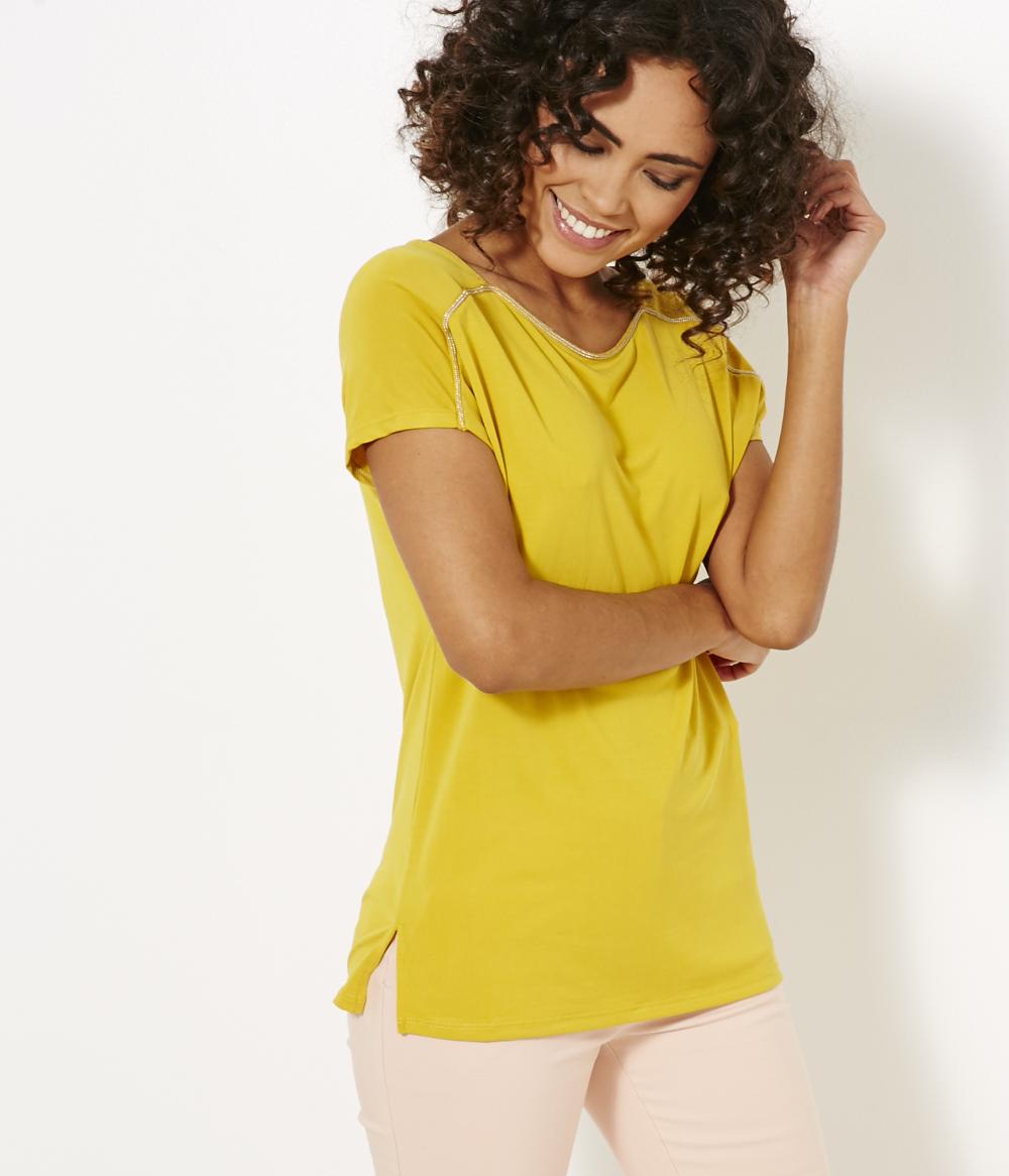 T Bijoux Femme Camaïeu shirt Détail Loose dCshxtorBQ