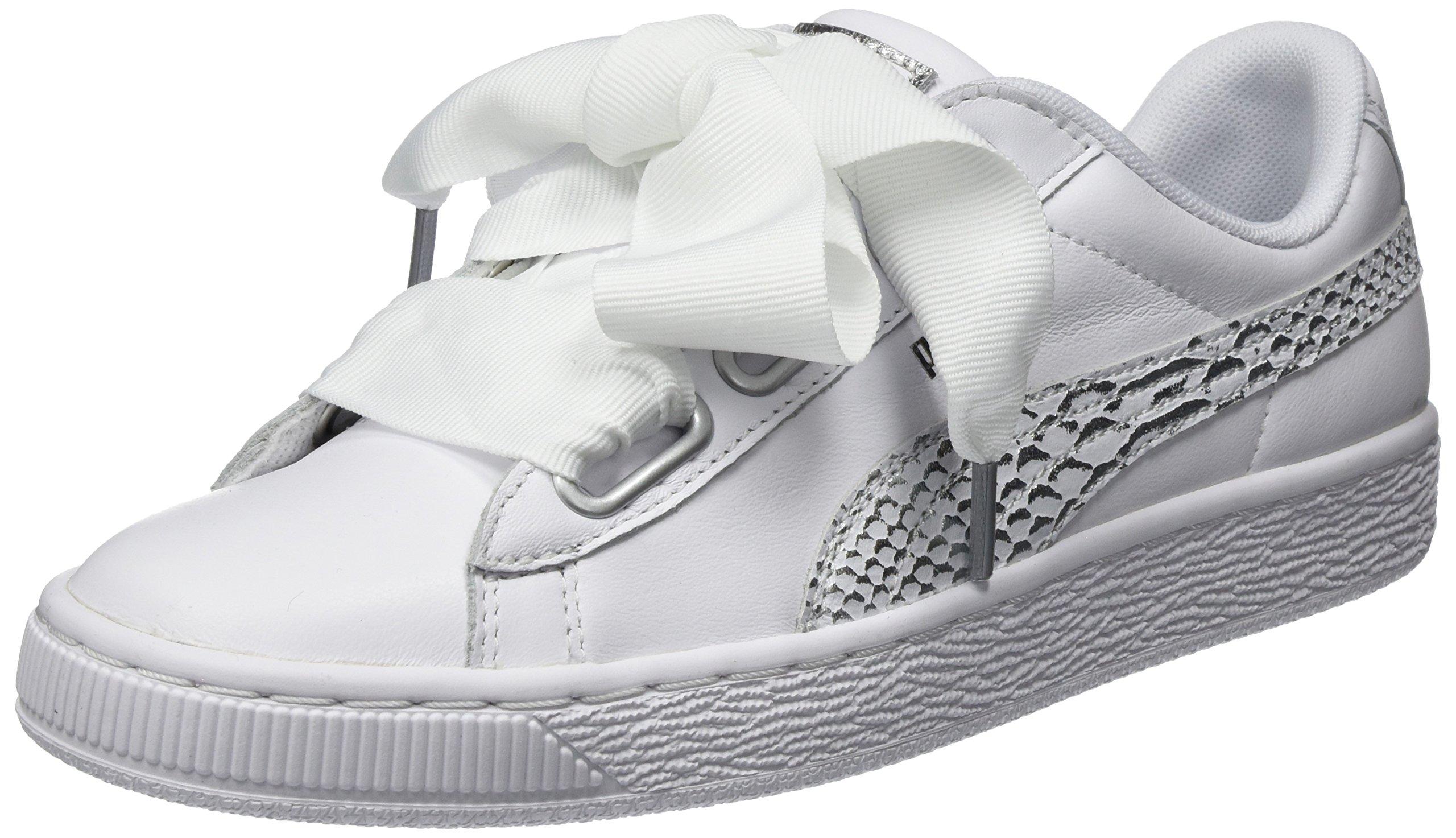 FemmeBlanc Basses Puma Basket White39 Eu OceanaireSneakers Heart vN8nw0m