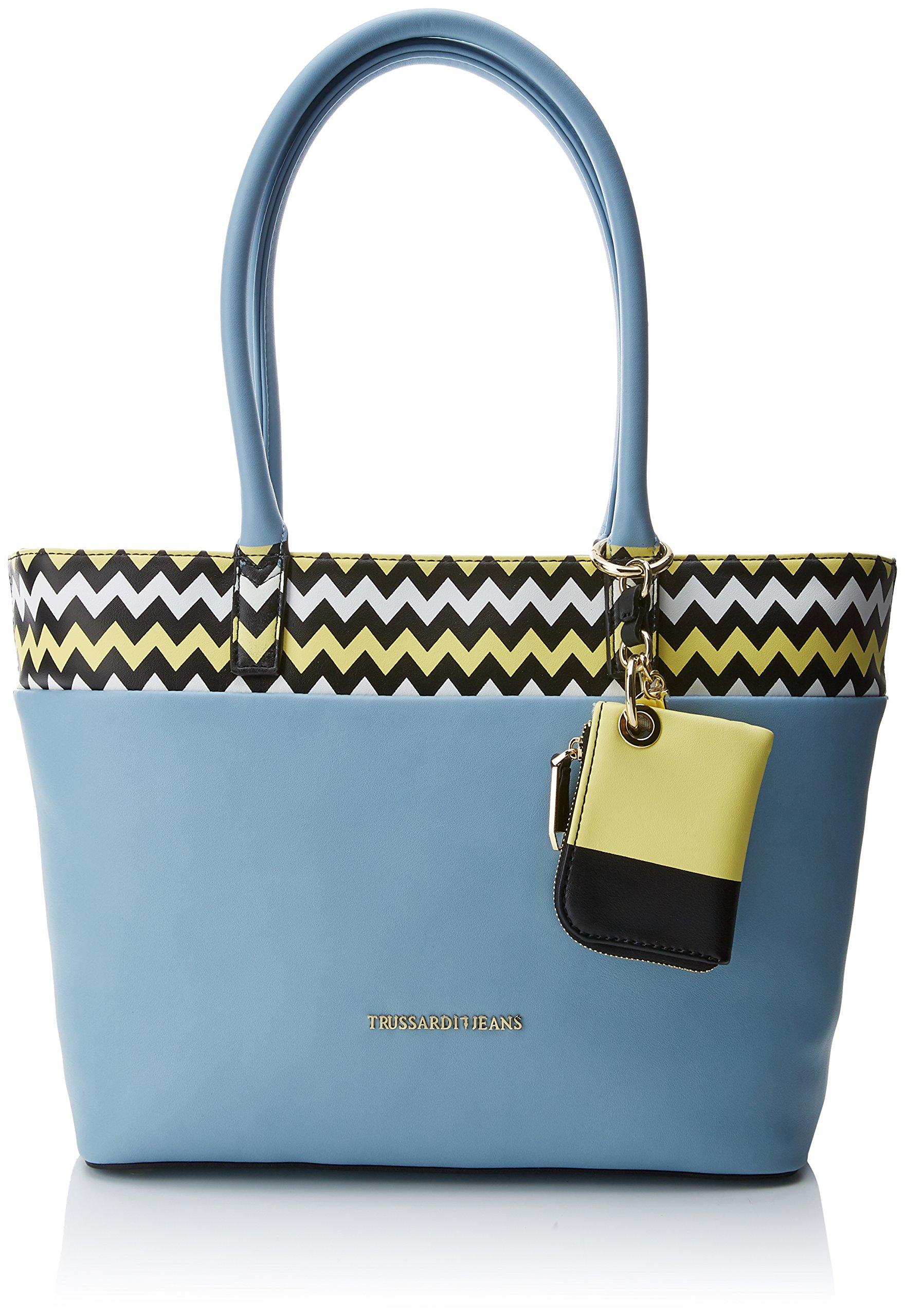 Trussardi FemmeBleulight Ecoleather Épaule H Portés Blue40x48x12 Jeans Smooth X L Shopping Holly Cmw BagSacs mw8Nvn0