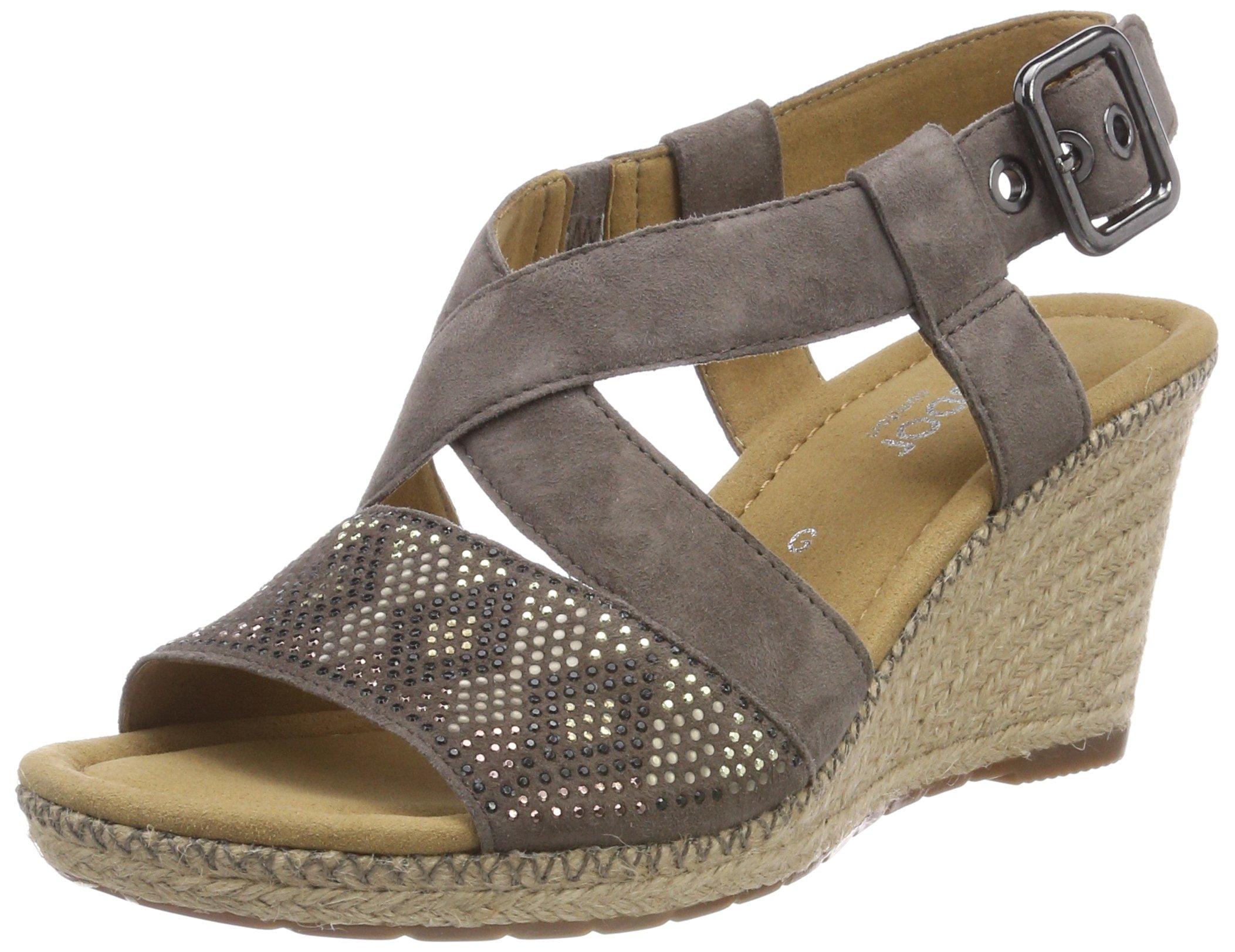 Eu Cheville Jute naht41 Gabor Shoes SportSandales Bride FemmeMarronfango Comfort zpGUMSVq