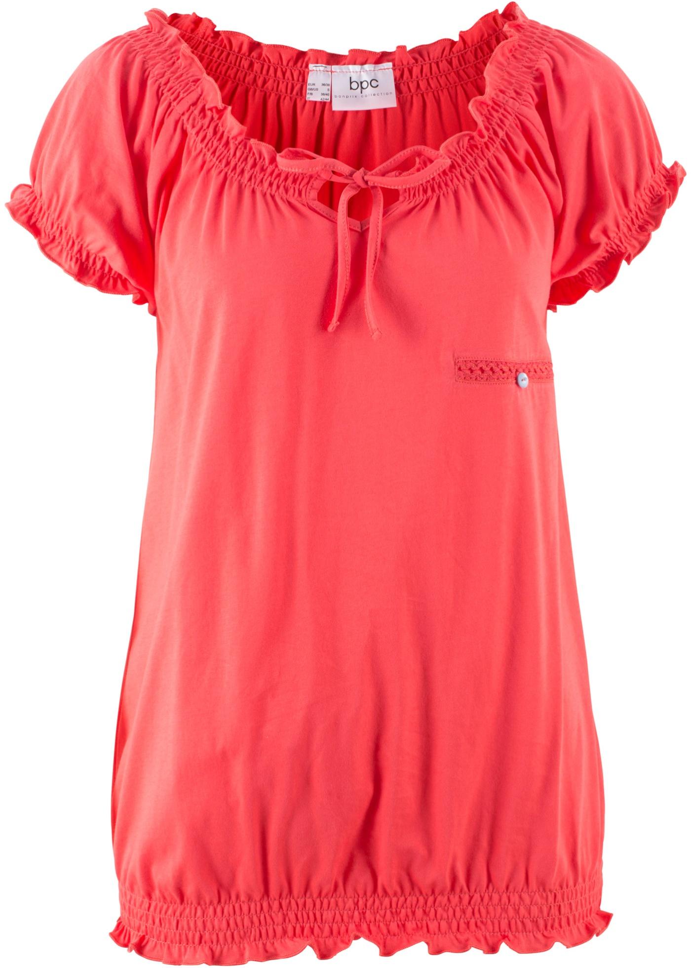 shirt CollectionT Bpc Bonprix Rouge Femme Courtes Manches Pour vY7g6ybf