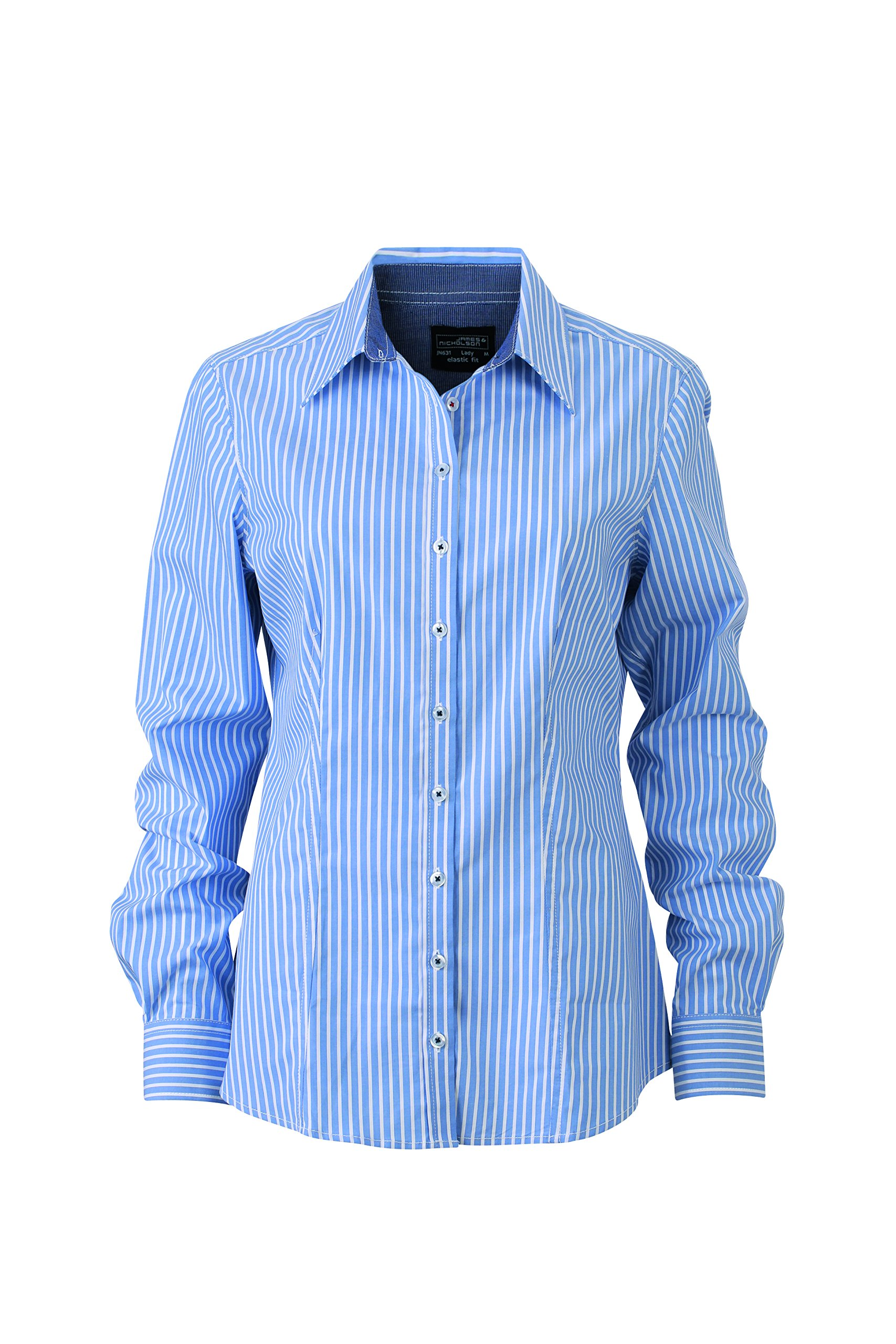 Jamesamp; Nicholson Femme navy38 white Shirt BlouseBlau Ladies' Light blue 4R35AjL
