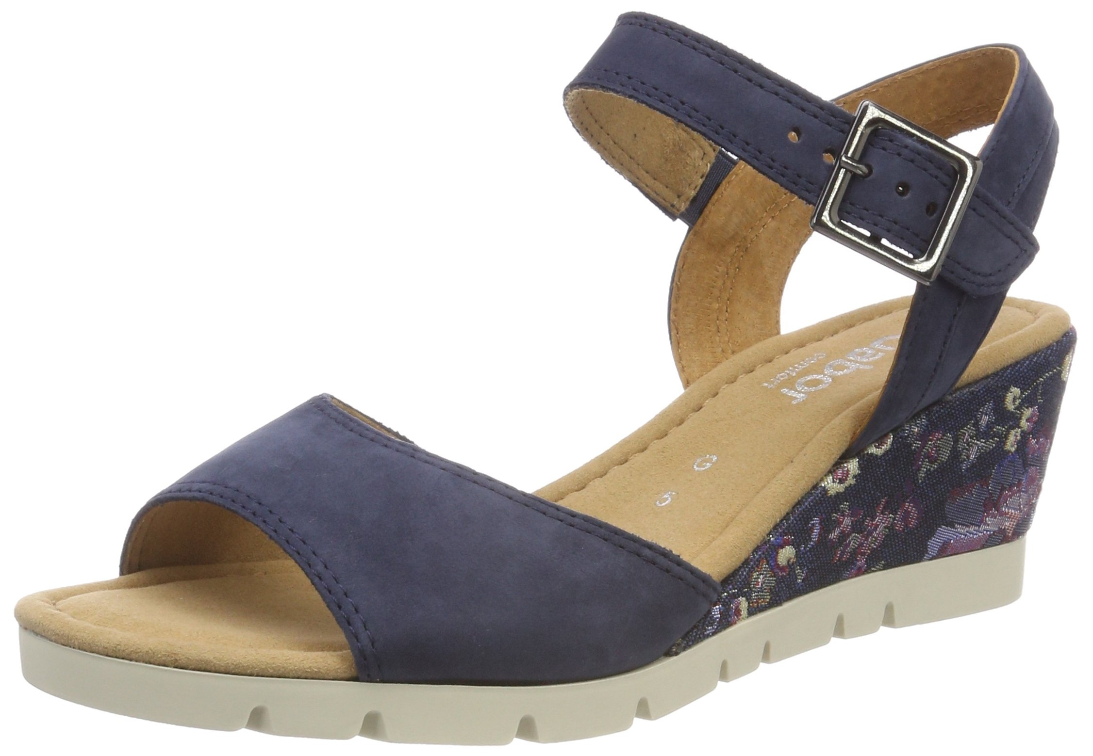 Shoes SportSandales Cheville FemmeBleunavy Flower38 Comfort Eu Gabor Bride nOkw0P