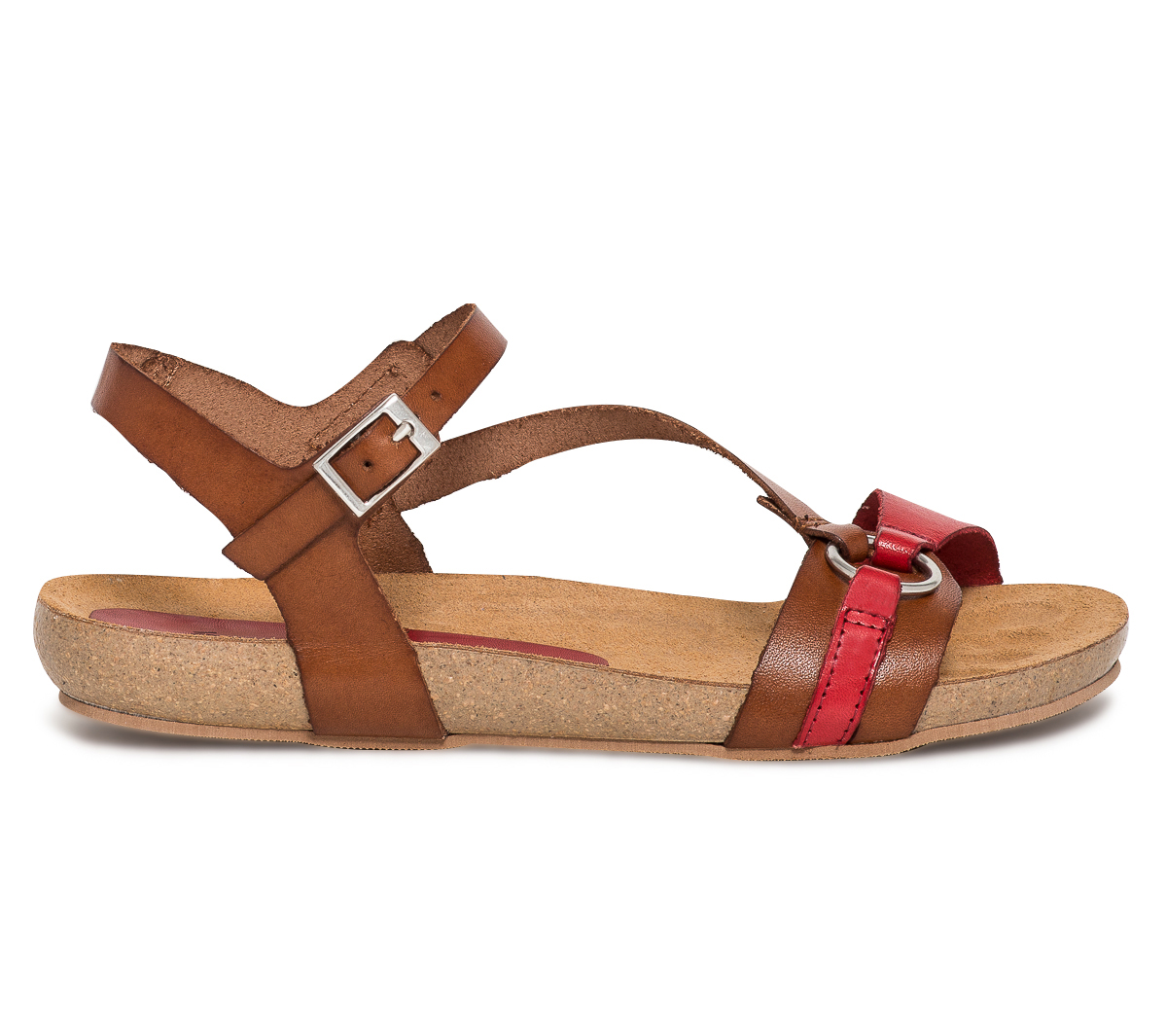 Sandale Rouge Marron Cuir Et Eram Anatomique K1JlFc