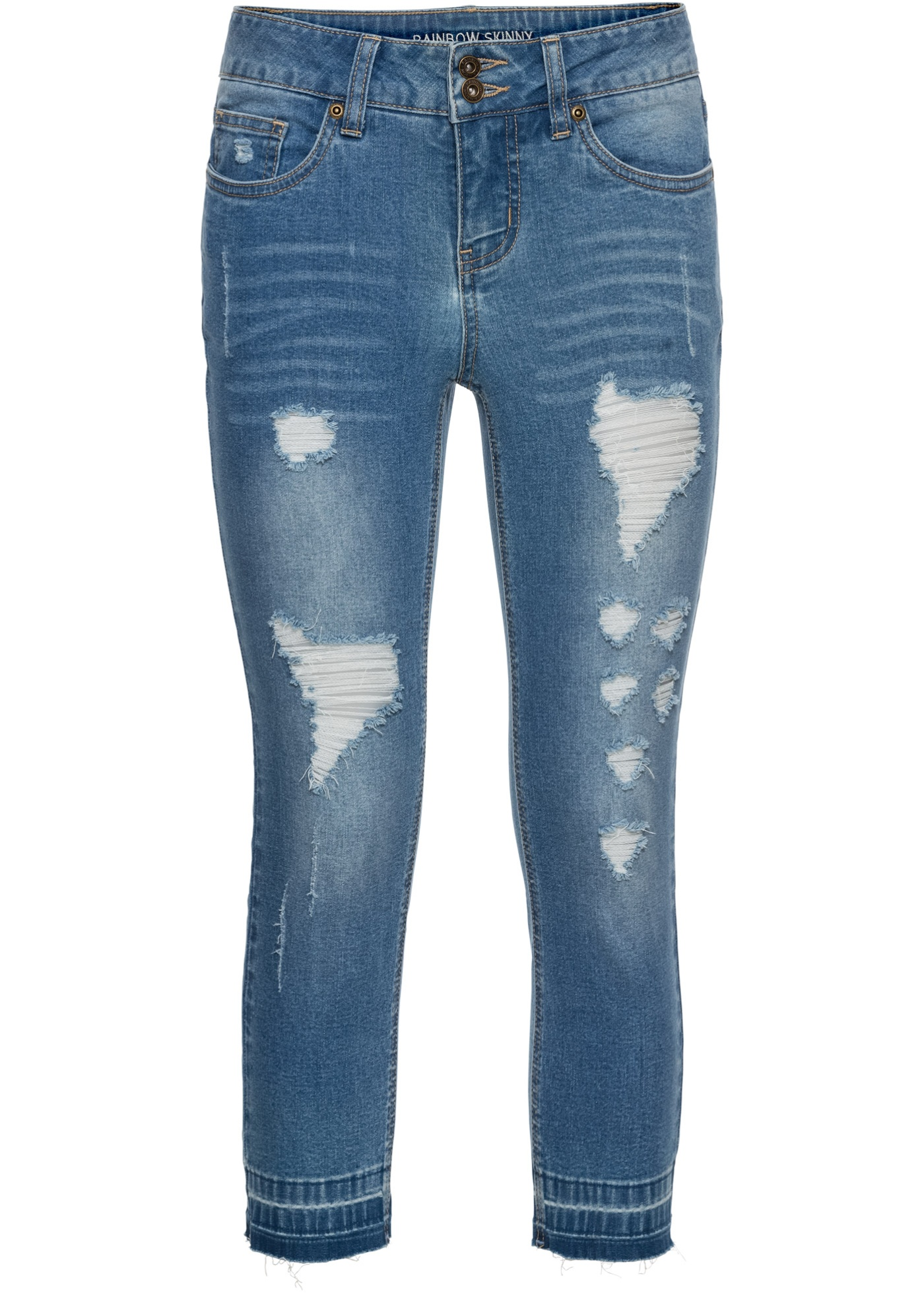 4 Femme Bleu Rainbow 3 Skinny Pour BonprixJean Longueur lTJKcF1