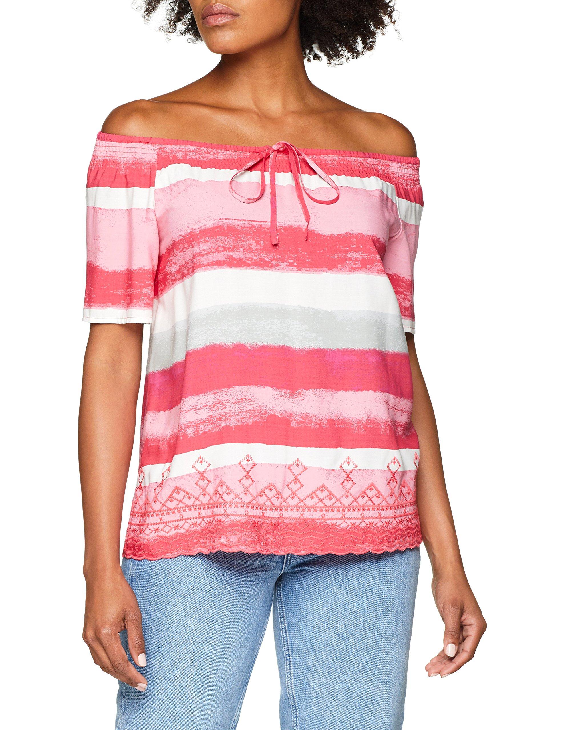 Ci 80 Femme 19 BlouseMulticolorepurple pink Stripes 899 Comma 0638 45g438 gyb6vYf7