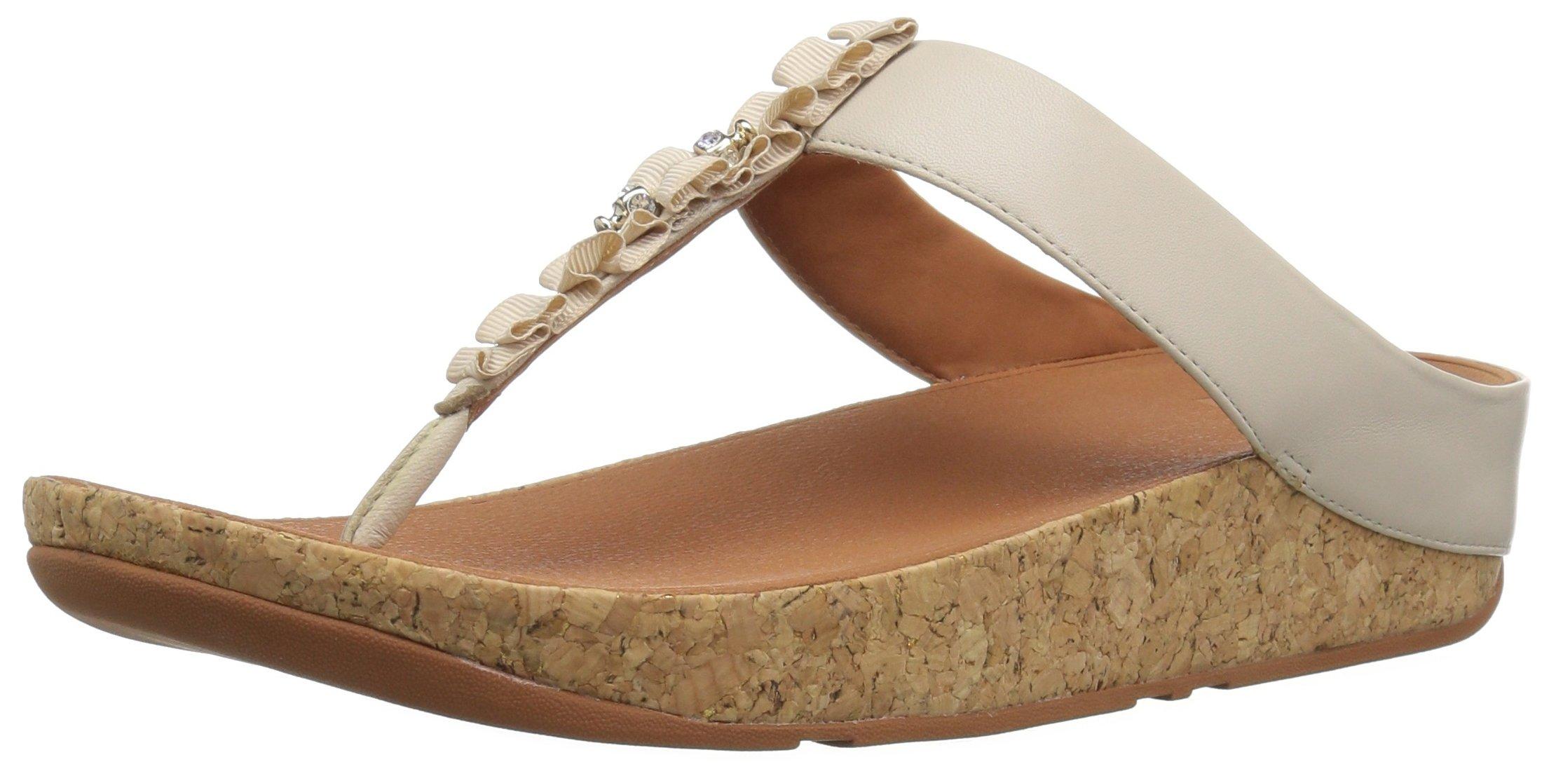 Ruffle Fitflop Ouvert SandalsBout Eu 47739 FemmeEcrucream Toe thong HYW29IDE