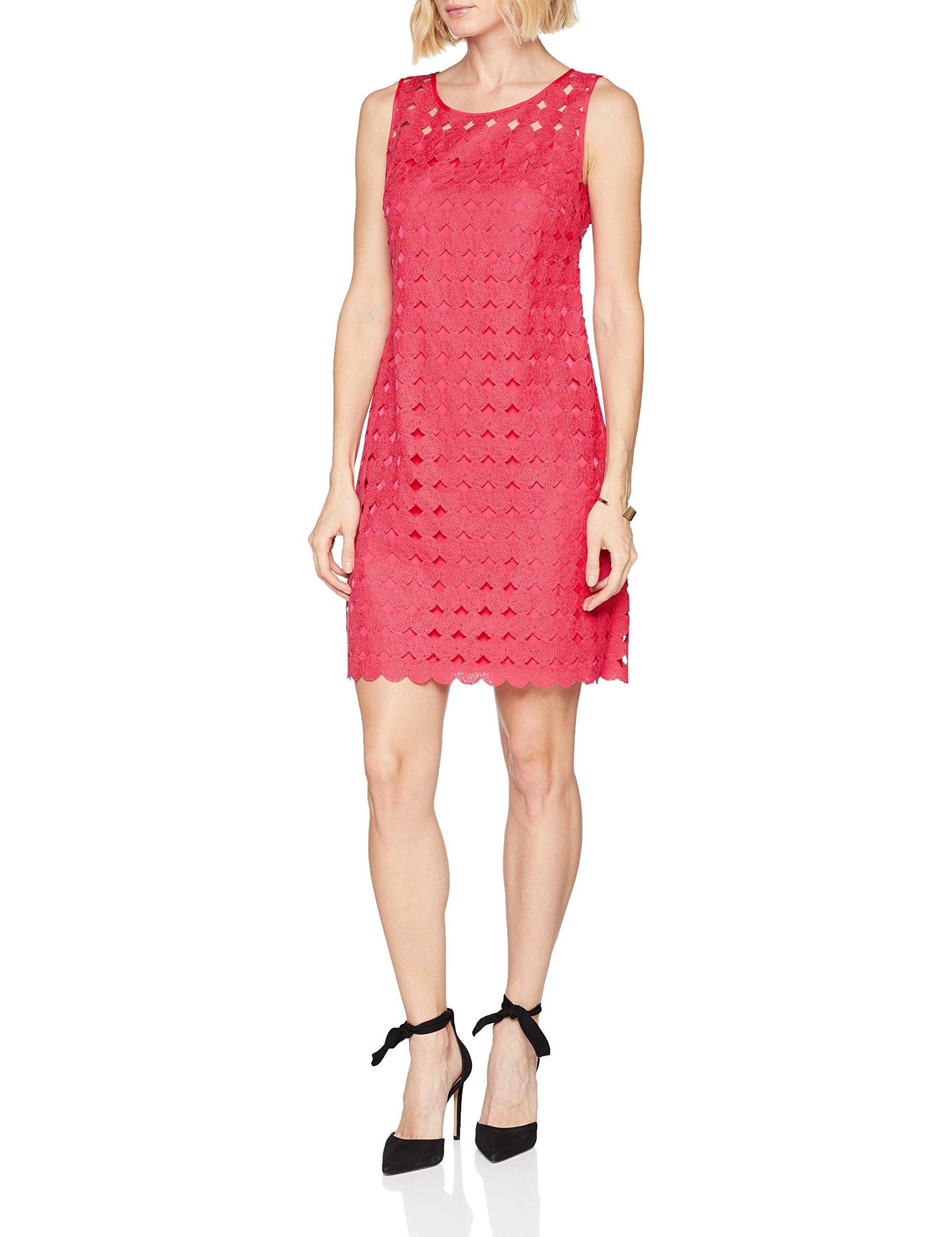 Femme Kleid GewebeRobe Taifun 60598Fr42taille Roseraspberry Pink Fabricant40 7bvfgy6Y