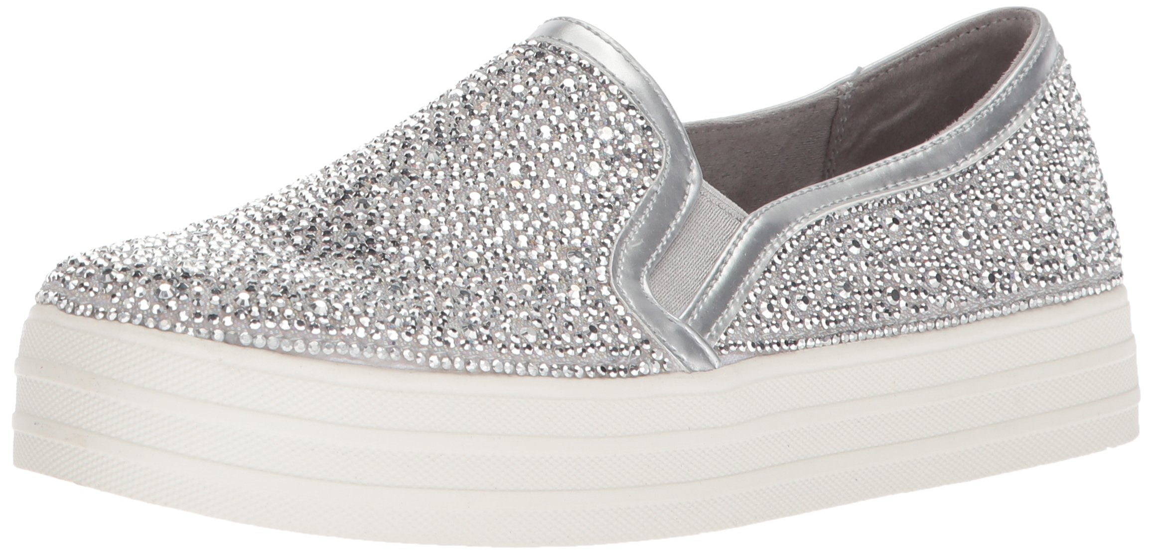 Skechers FemmeArgentésilver Sil39 Up Enfiler glitzy Double GalBaskets Eu D92IEH