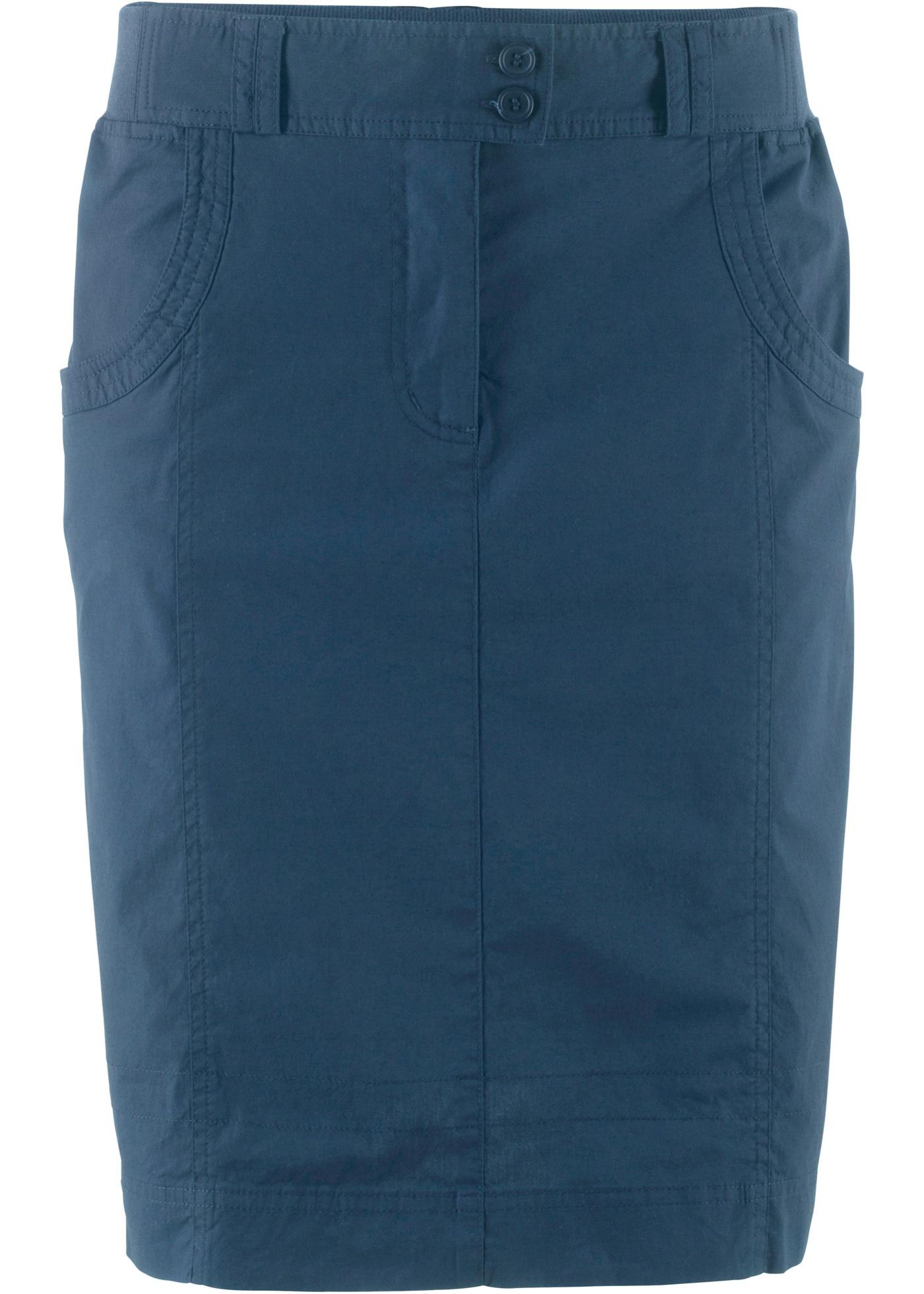 Semi Pour Extensible côtelée Avec CollectionJupe Taille Bleu Bpc Bonprix Femme eCBroWdx