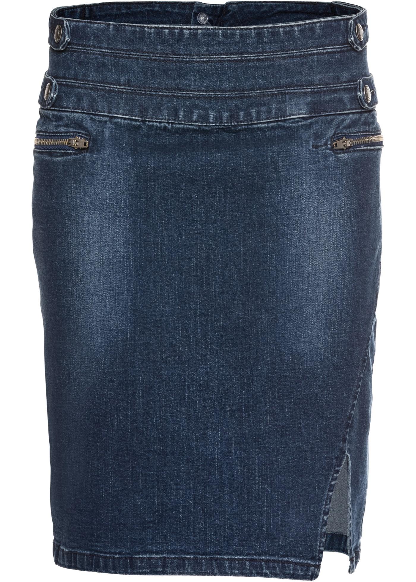 En Bleu Baner Jean Pour Femme Jeanswear Extensible BonprixJupe John fYgvb7I6y
