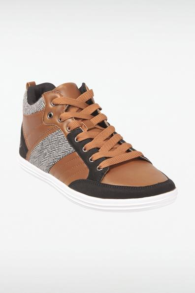TextileTaille Hautes 40 Sneakers Matières Bonobo Homme Marron 3 Rq35jLA4