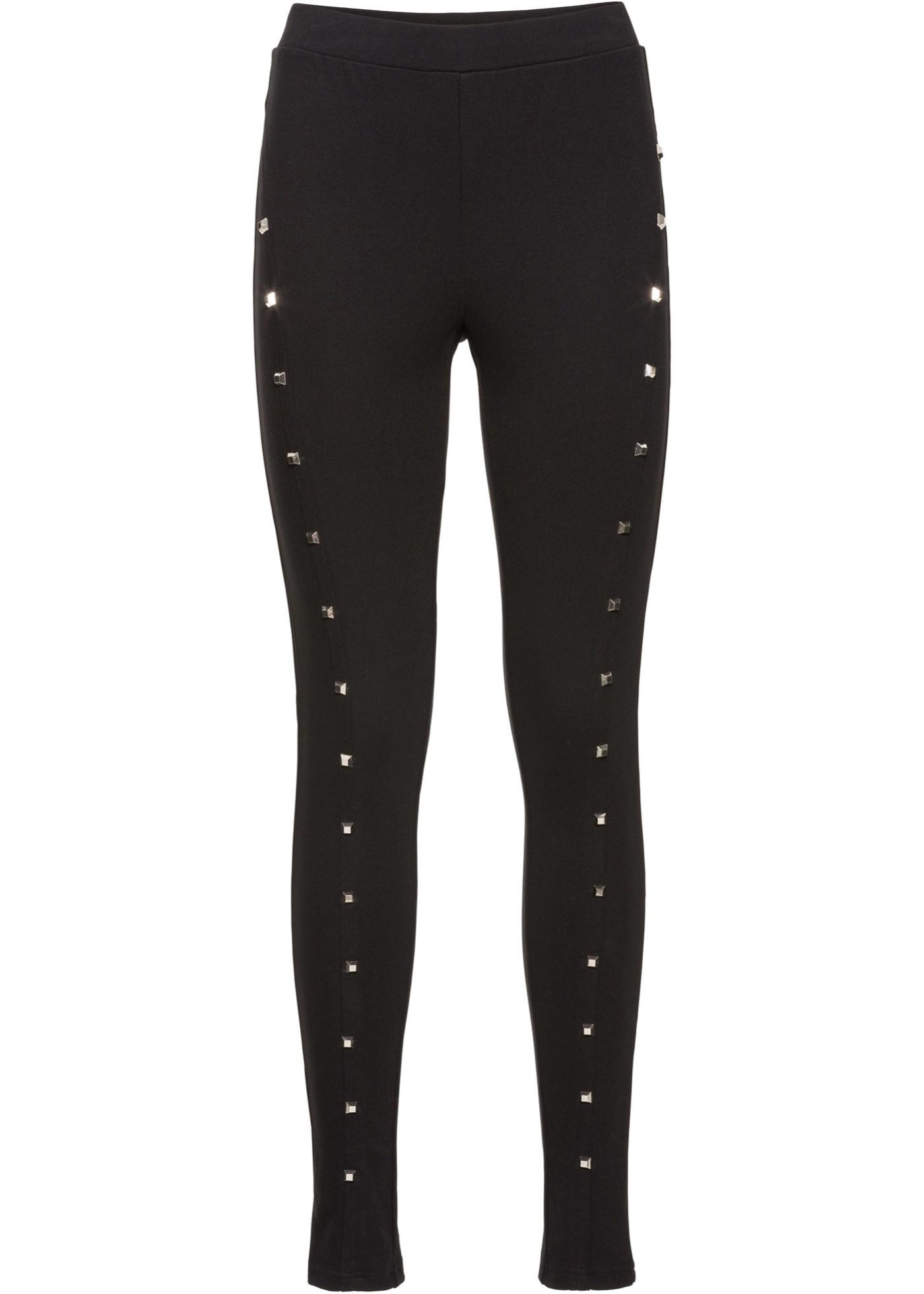 Bodyflirt Noir BonprixLegging Rivets Femme Boutique Pour Avec X8n0wOkP