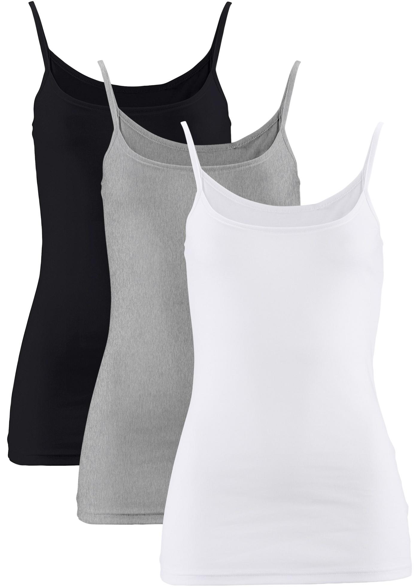 Blanc Bonprix Tops Manches 3 Bpc De Pour Femme Sans CollectionLot N8PX0ZwknO