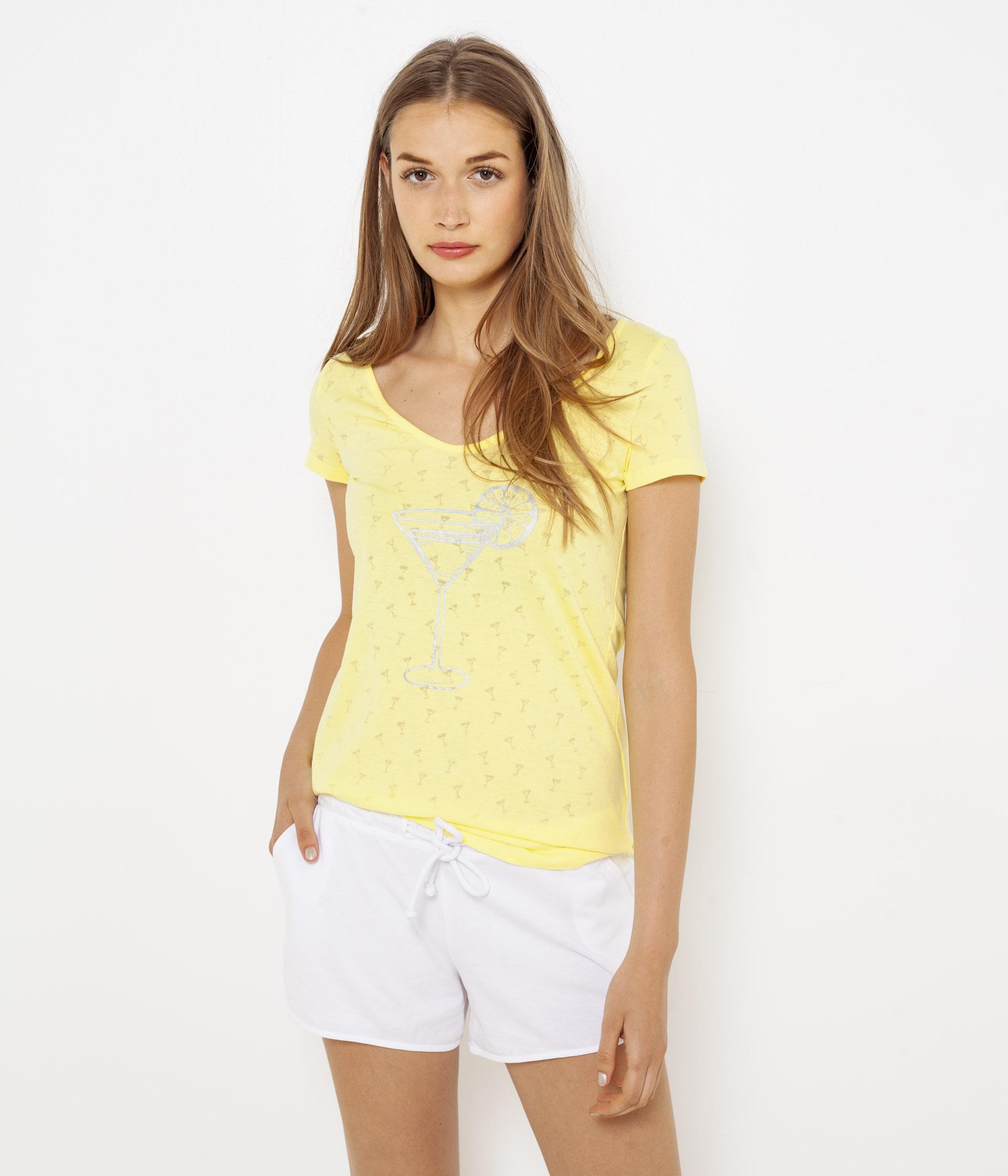 Cocktail Noué Femme T Camaïeu Dos shirt E29YWDHI