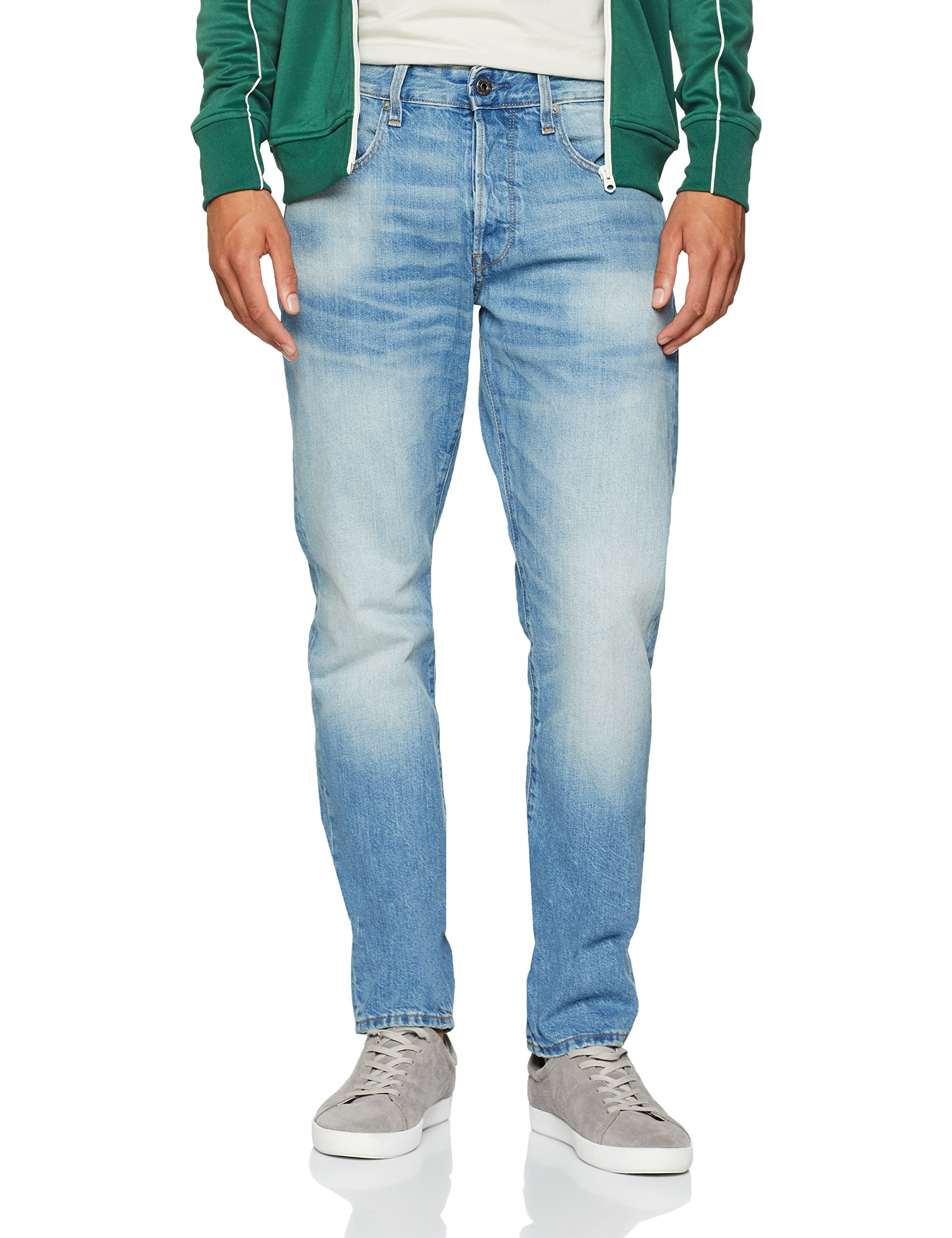 497033w34l Straight JeansBleumedium Raw Vintage Tapered Homme 3301 9299 G Aged star w0kP8On