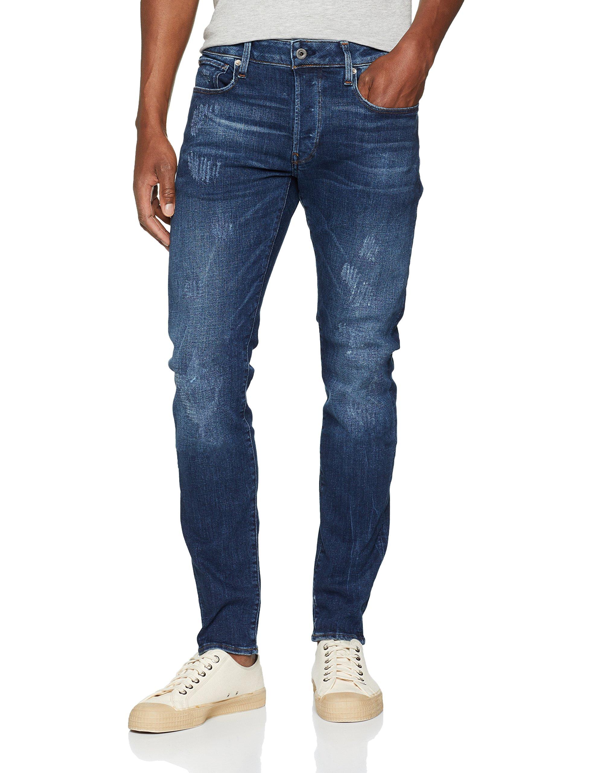 641531w34l G Raw JeansBleudk Aged Restored 9136 3301 Slim' star Homme CthrdsQx