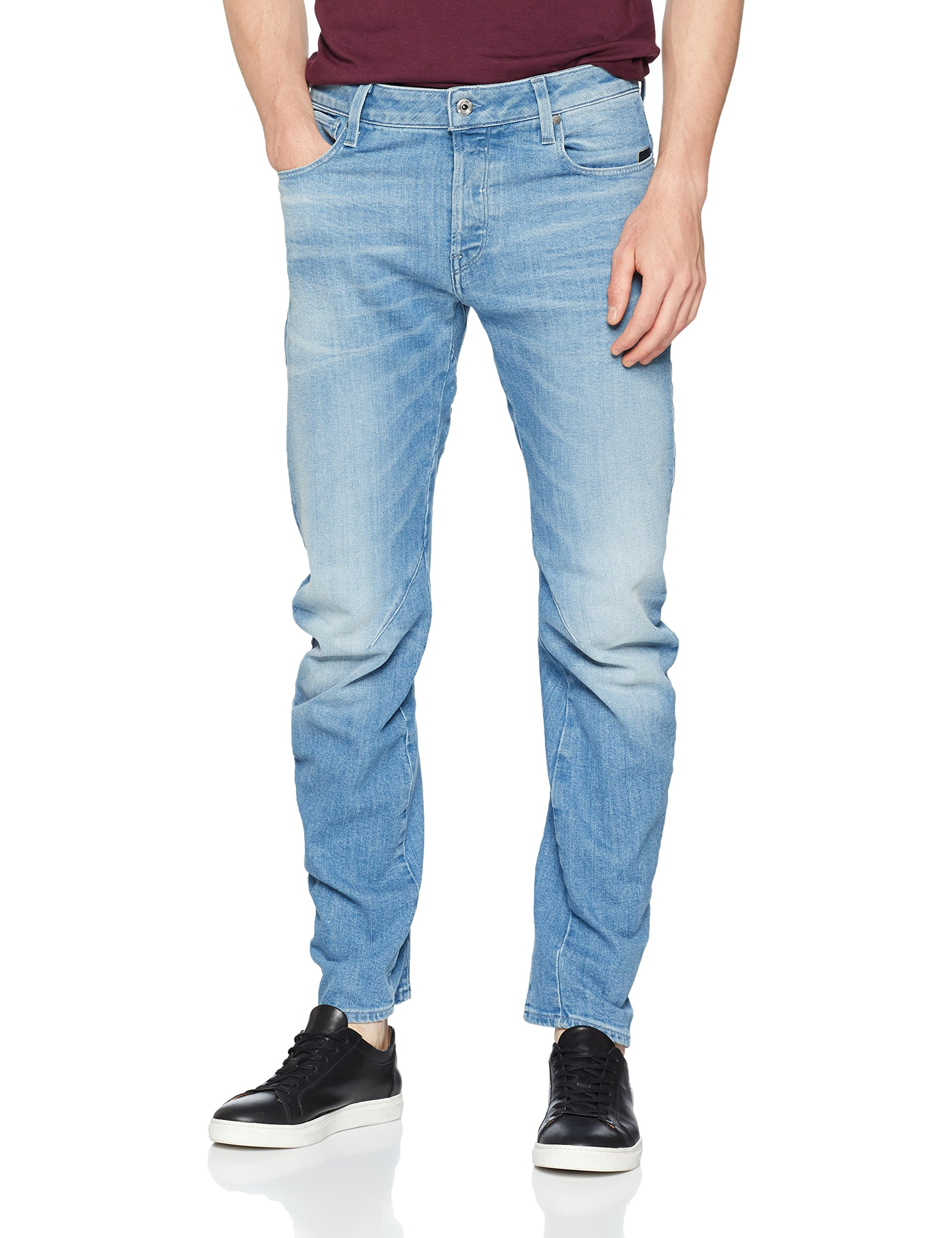 Waist JeansBleumedium Raw Homme 3d 07134w34l Low Aged 9871 Arc G Slim star 5ALRq3jc4
