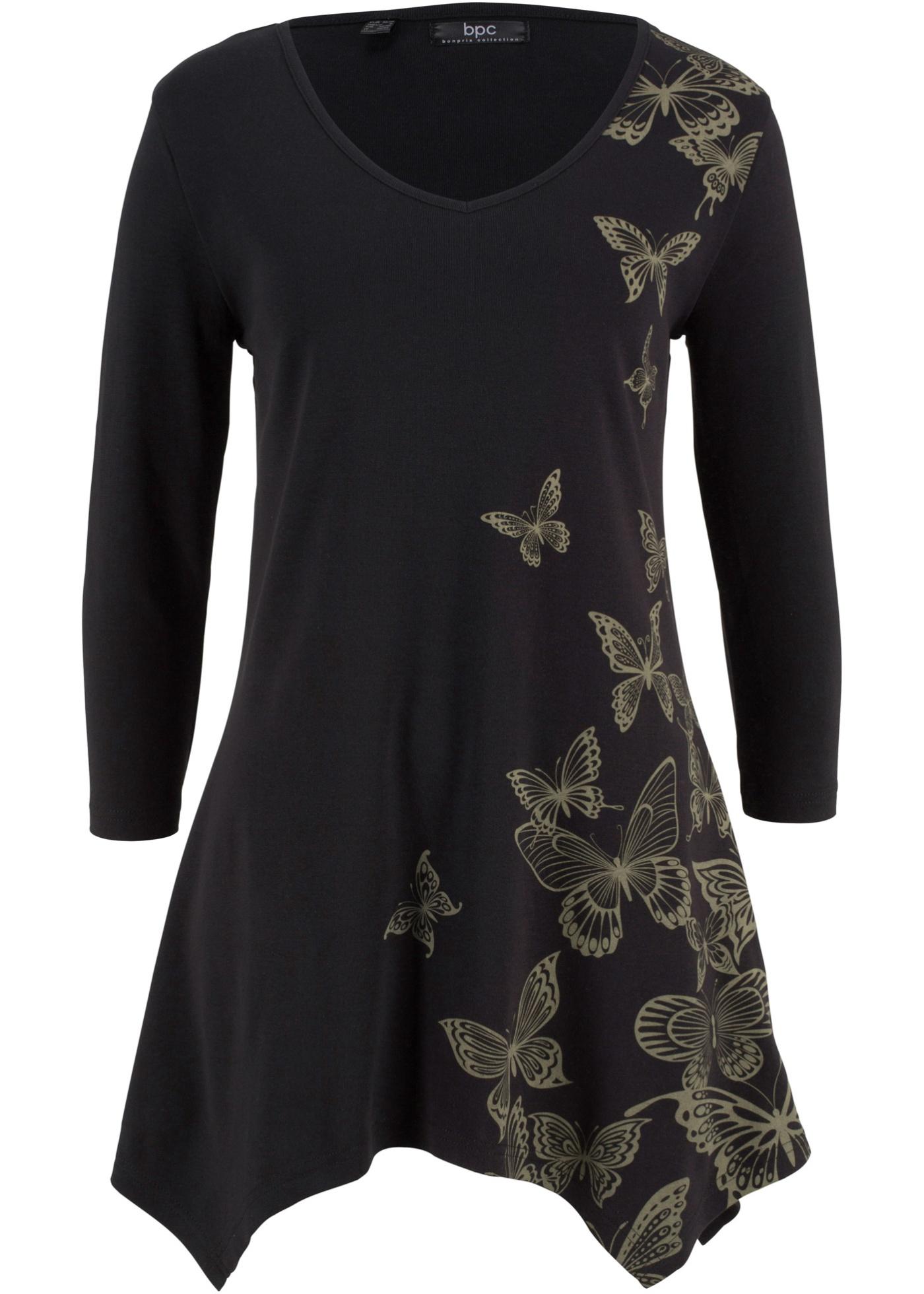 Noir À shirt 4 Pour Bpc CollectionT PansManches 3 Bonprix Femme TF1JlcK3