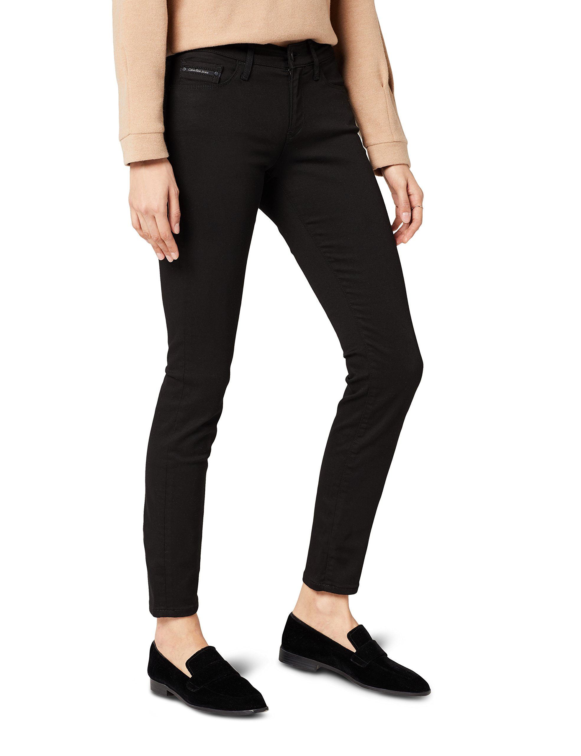 Klein Black Fabricant3428Femme Skinny Calvin pop l34taille Jeans Rise Mid JeansNoirW28 srQthdxCB
