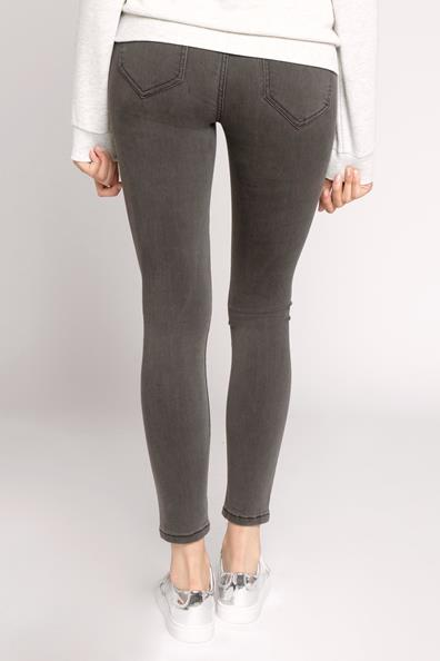 Taille Haute Cache Jeans Skinny Used Gris CotonFemme 34 shBQrdCtx
