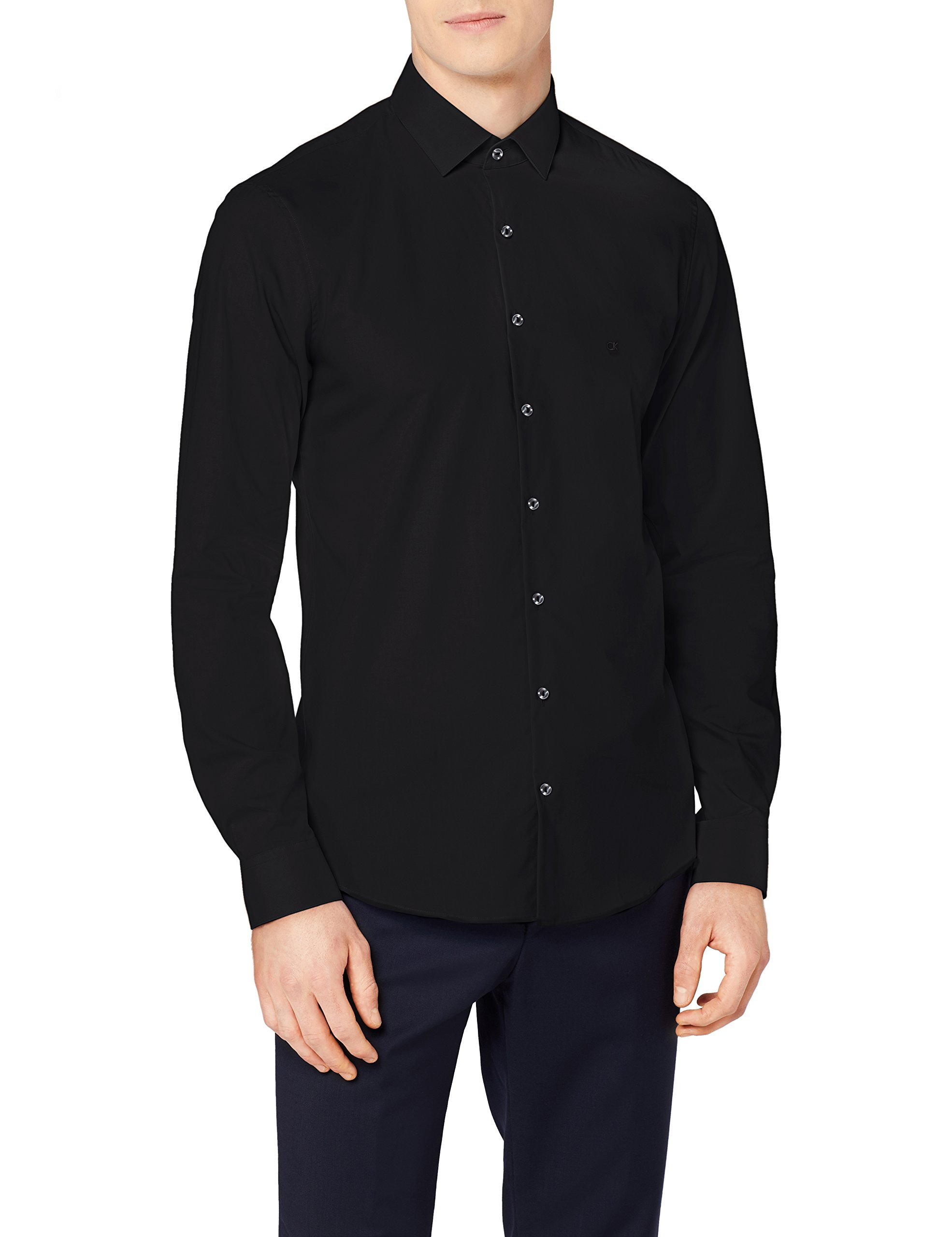 Klein Ftc Chemise Fabricant42Homme Fit BusinessNoirblacktaille Calvin Bari Slim thQrds