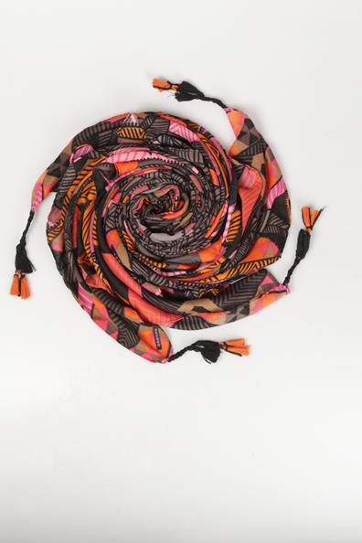 Tu PolyesterTaille Femme Motif Ethnique Foulard Tissu Orange Bonobo nO0wPk