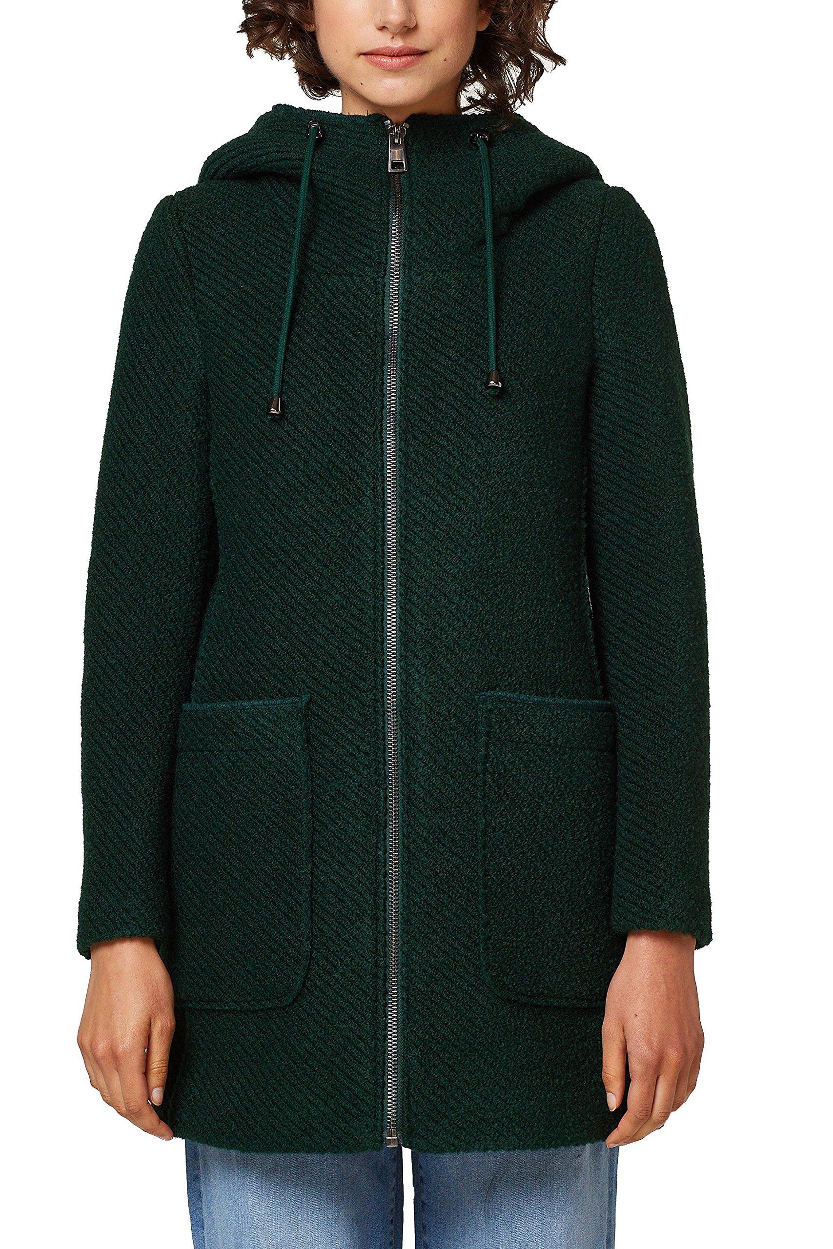088ee1g042 Green Esprit Femme ManteauVertdark Teal 375Small eI2WD9YEHb