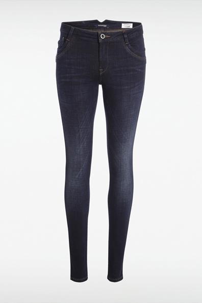 Skinny Taille Polyester42 Basse Bleu Bonobo Jeans Used Femme nwOmvN08