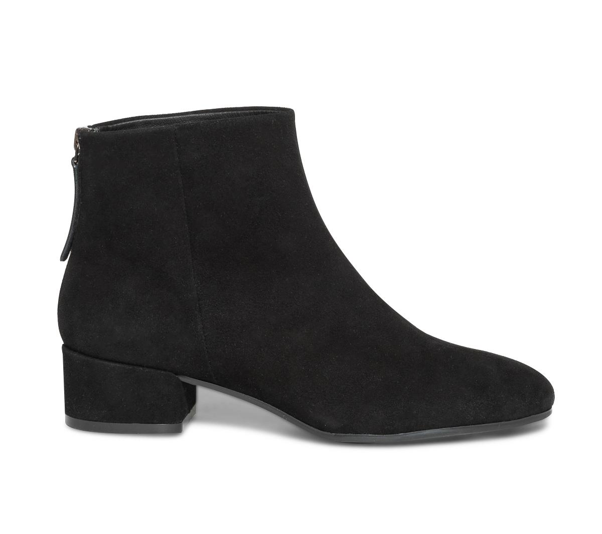 Eram Cuir Boots Noir Velours En Rétro EH9YeIW2D