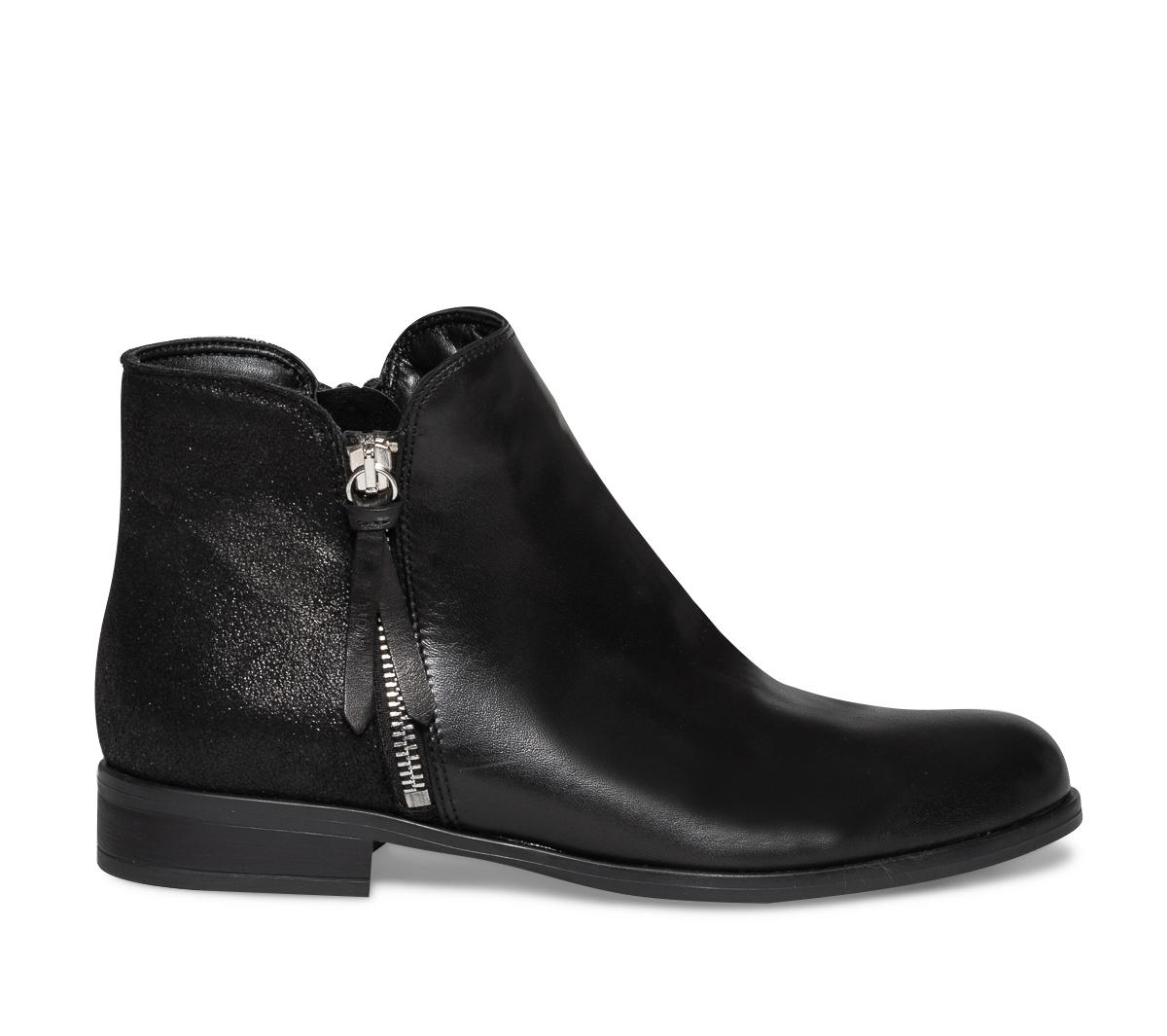 Bimatière Noir Eram À Boots Zip CeBordxW