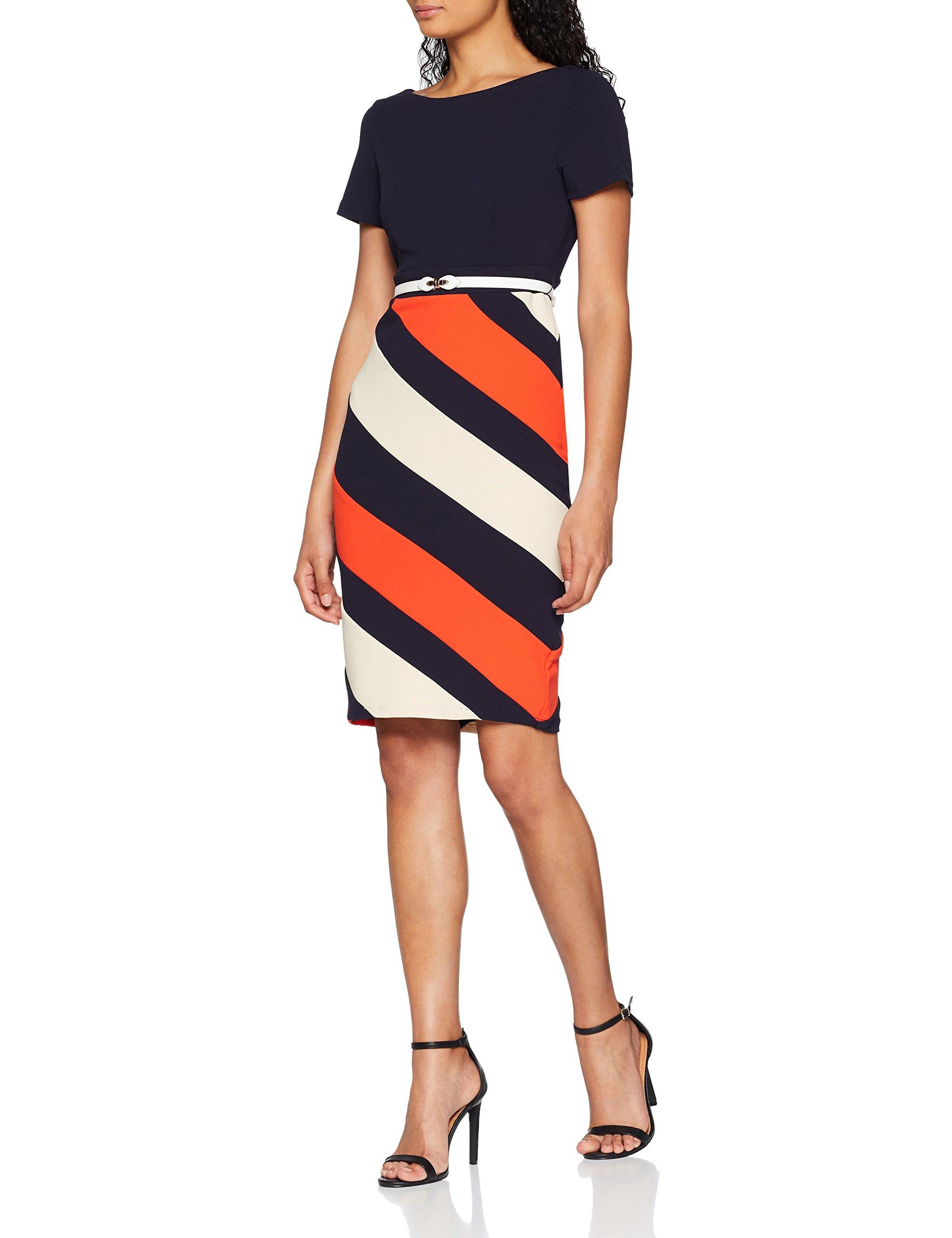 Dolls RobeMulticoloremulticolour Femme Multi Paper Stripe Dress 00142 CoedWrxBQE
