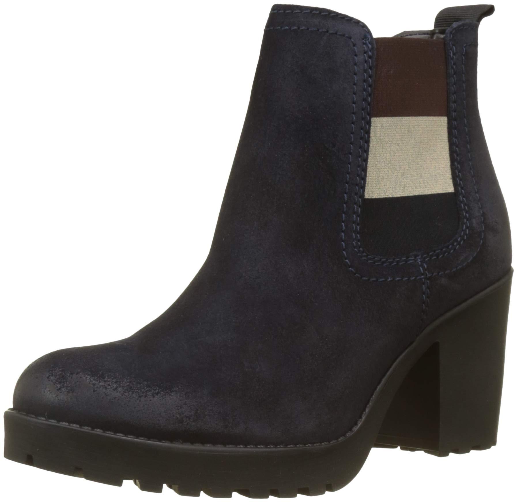 FemmeBleumidnight Eu Denim Jeans 40340 Essential Mid Heel Chelsea Hilfiger BootBottes Tommy qMVGzpSU