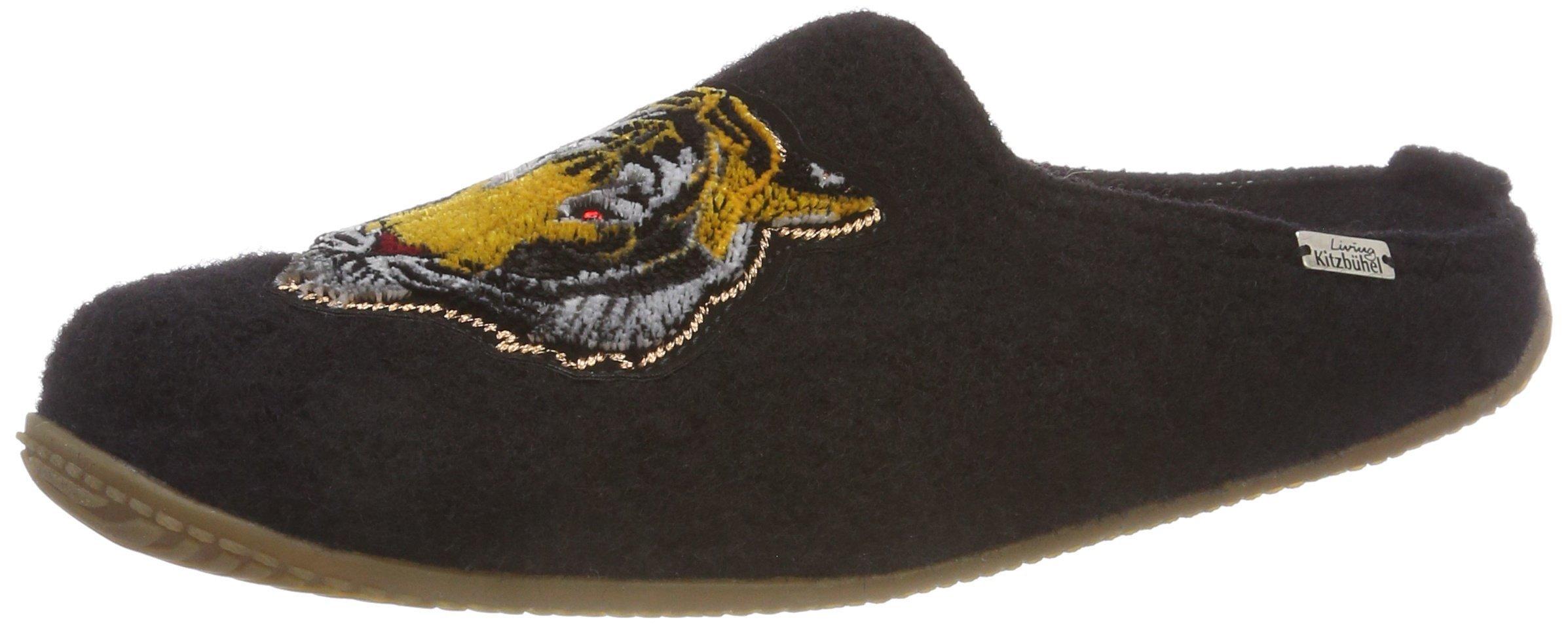 FemmeNoirschwarz Pantoffel Eu Kitzbühel Living Tiger 90039 PatchPantoufles mn0yNvO8w