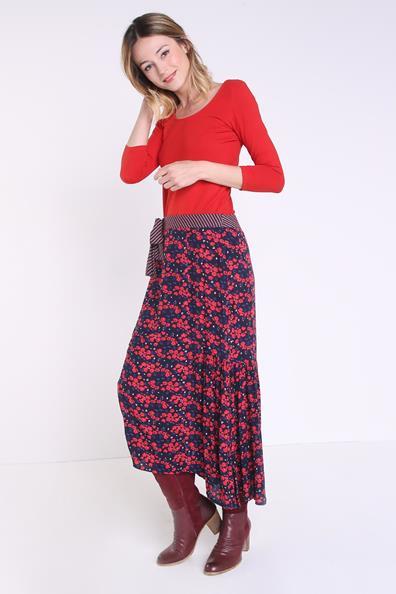 Bonobo L 4 Droit CotonTaille shirt T Femme Manches 3 Rouge Instinct WH2IE9D