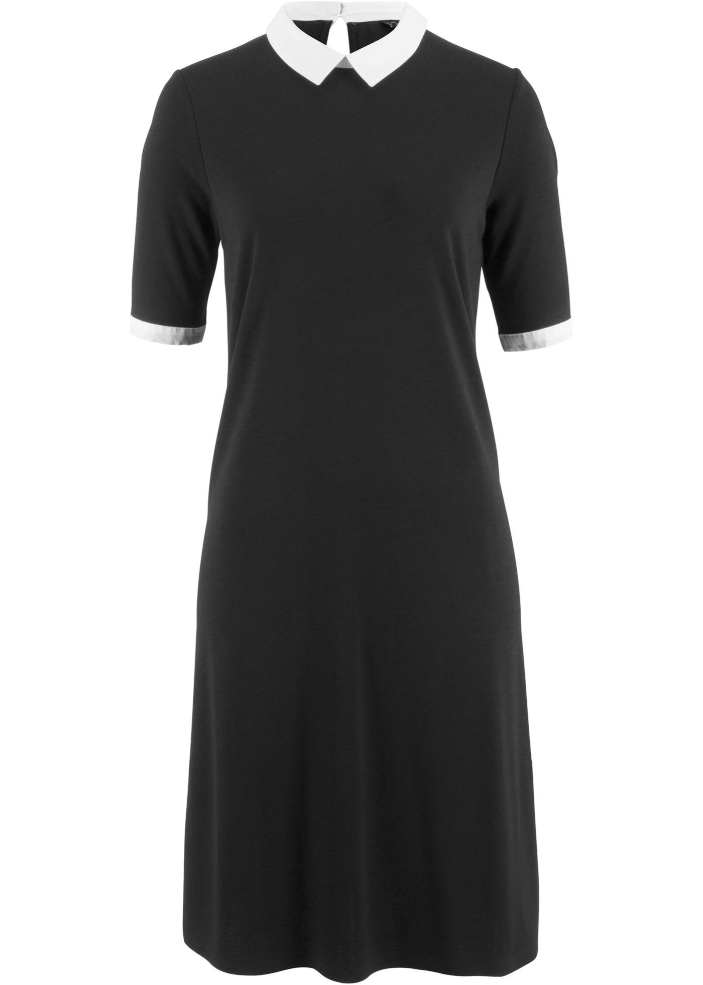 Femme shirt Manches CollectionRobe longues Maite Kelly Bonprix Mi Pour D'été Noir T Bpc Matière pSMVUz