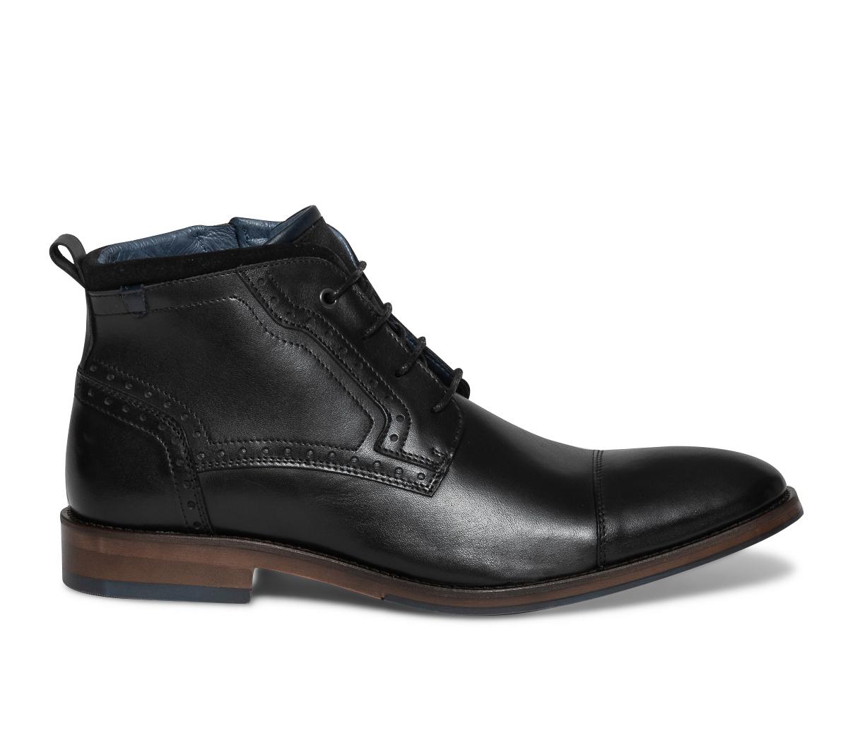 Boots En Cuir Noir Eram Lacet À WH29YIDE